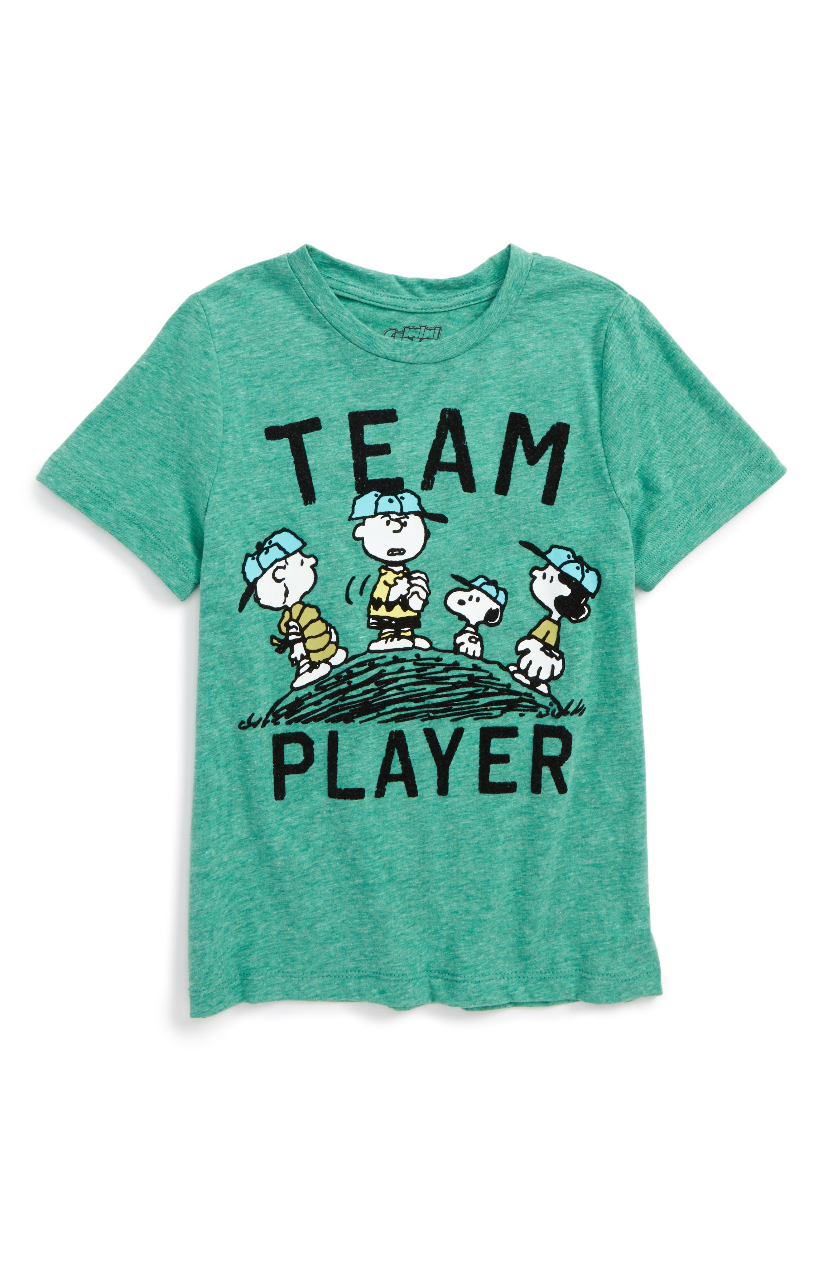 Mighty Fine x Peanuts® Team Player T-Shirt (Toddler Boys & Little Boys)