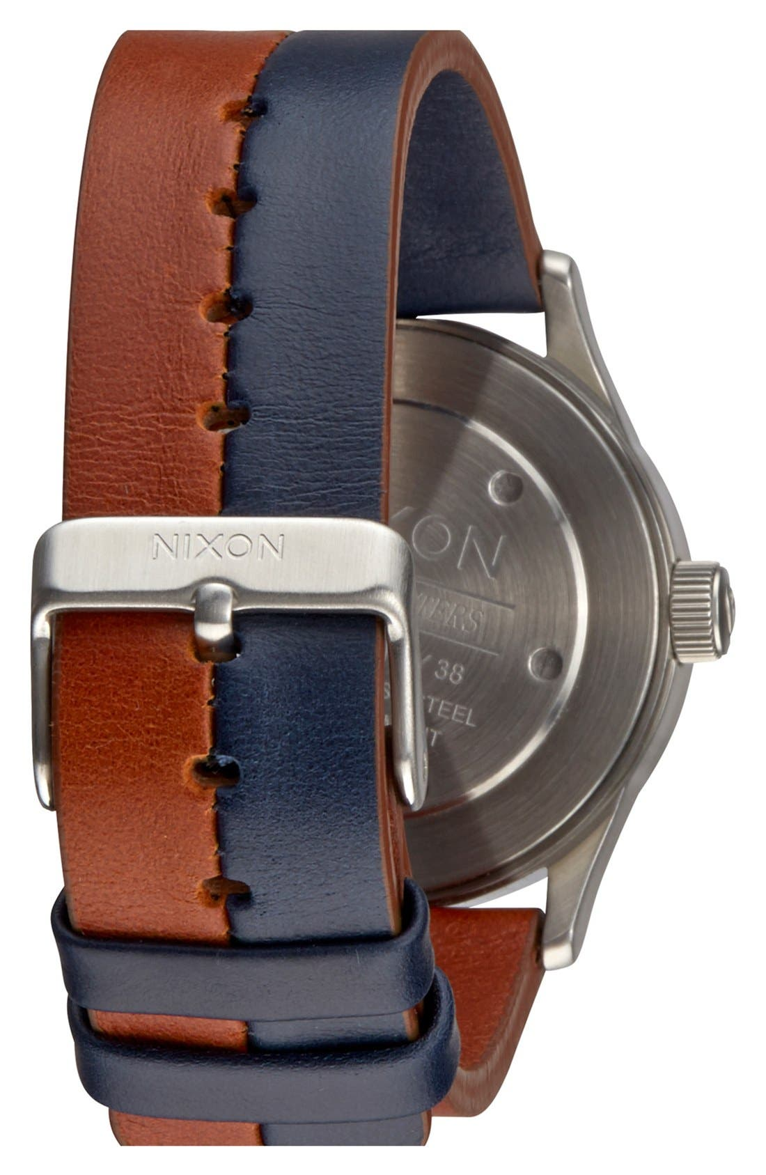 Alternate Image 2  - Nixon 'The Sentry 38' Leather Strap Watch, 38mm