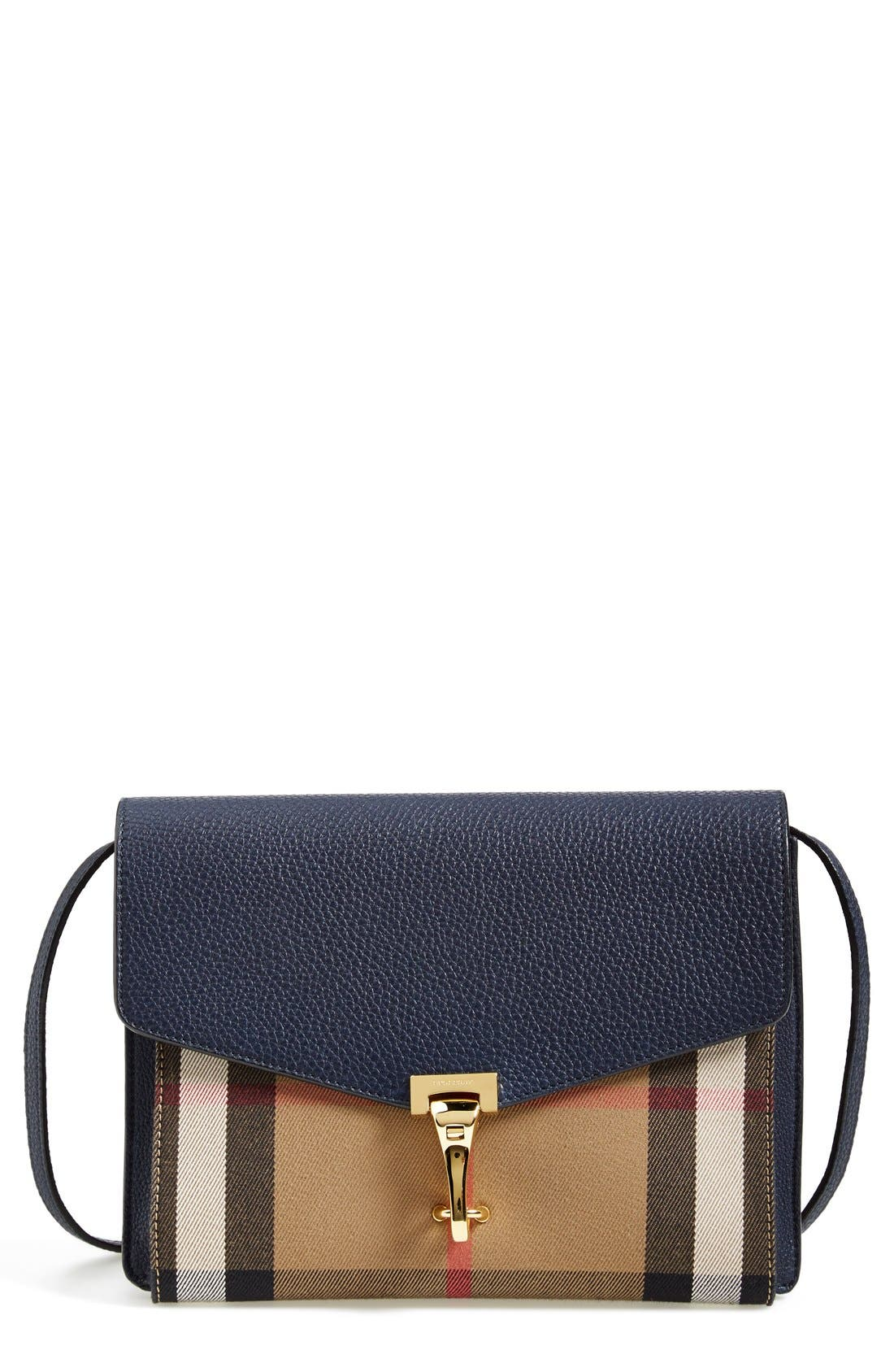 Main Image - Burberry 'Small Macken' House Check Crossbody Bag