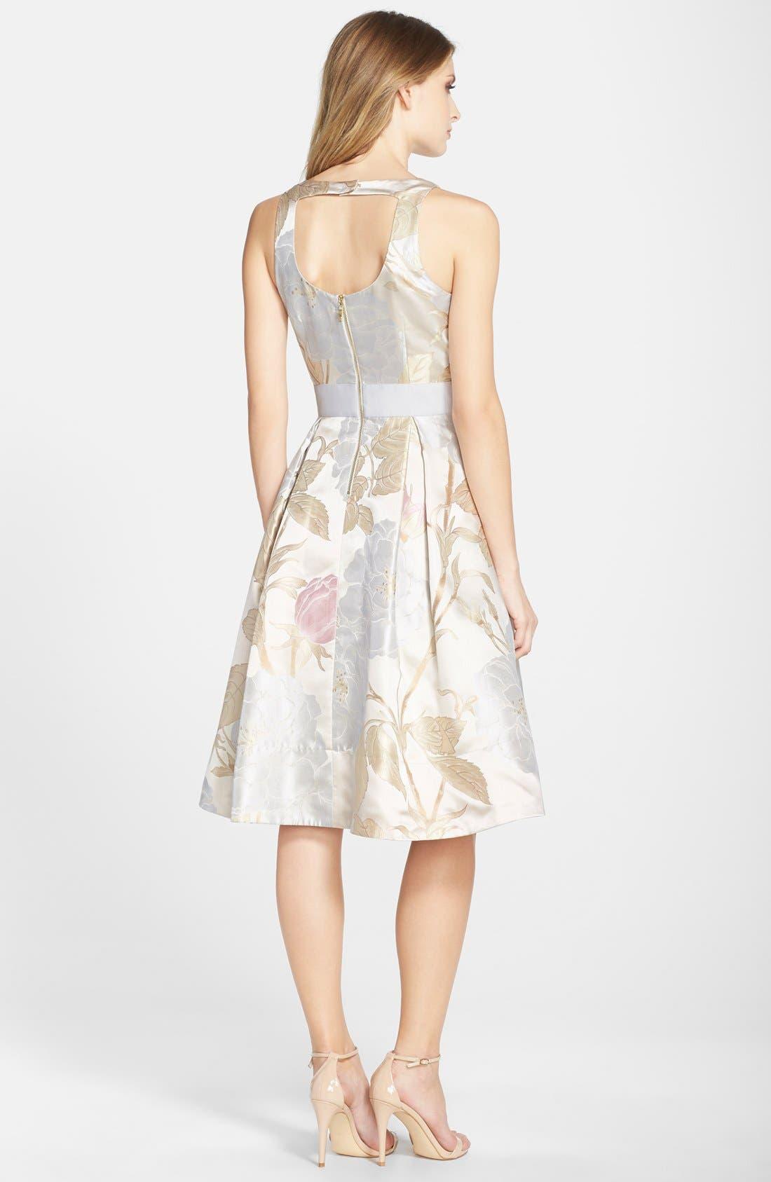 Alternate Image 2  - Eliza J Embellished Jacquard Fit & Flare Dress