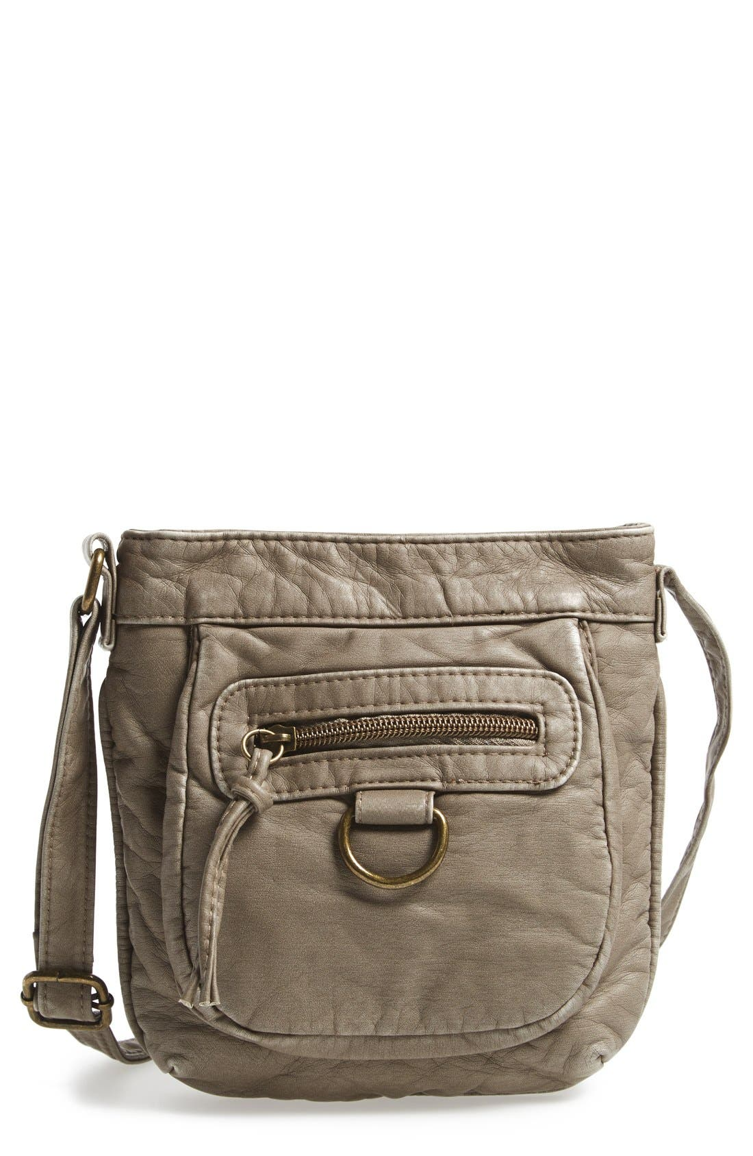 Alternate Image 1 Selected - T-Shirt & Jeans 'Washed' Small Crossbody Bag
