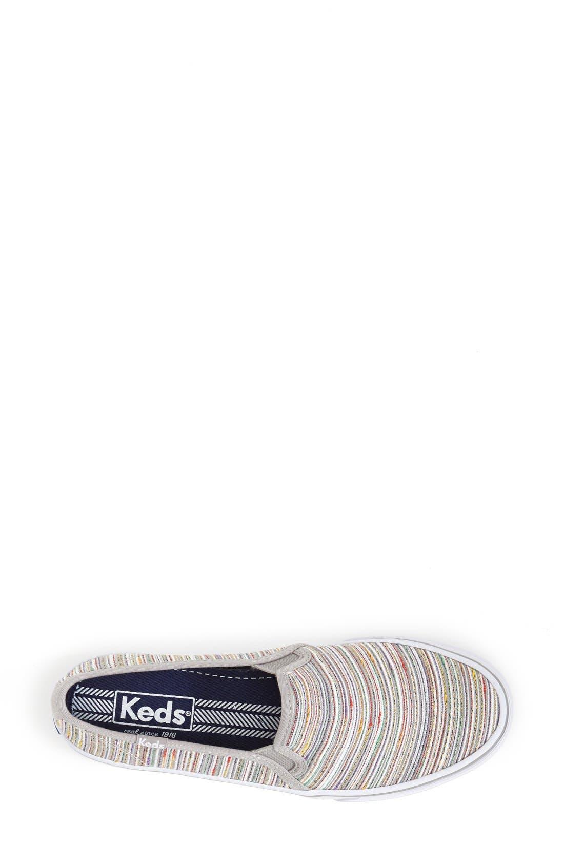 Alternate Image 3  - Keds® 'Double Decker - Woven Stripe' Slip-On Sneaker (Women)