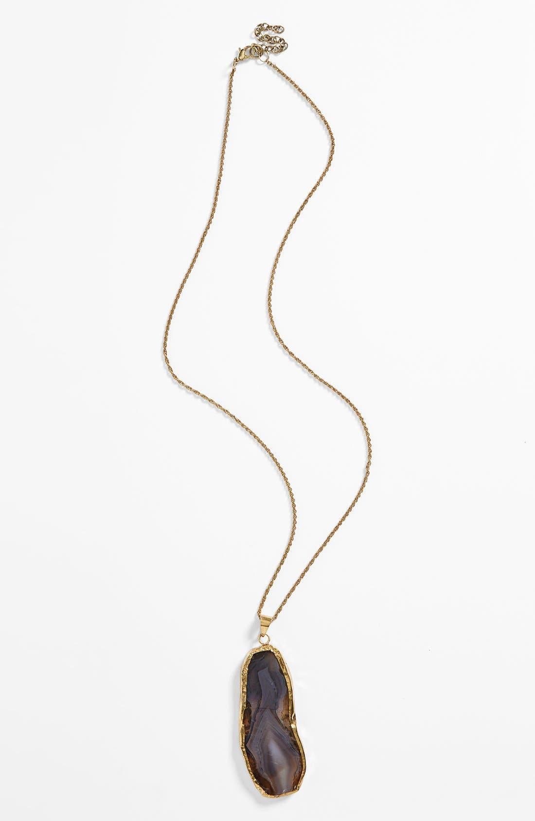Main Image - BP. Oversize Stone Pendant Necklace