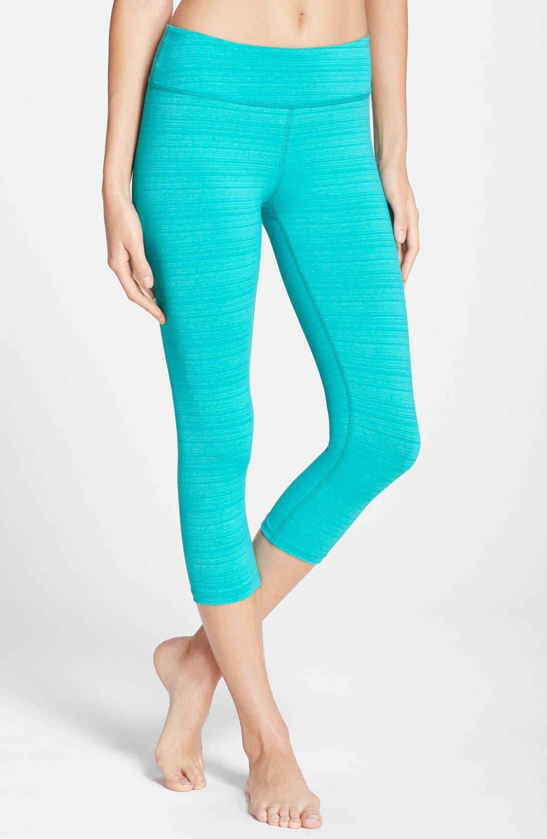 Main Image - Beyond Yoga 'Stripe-Hype' Capri Leggings