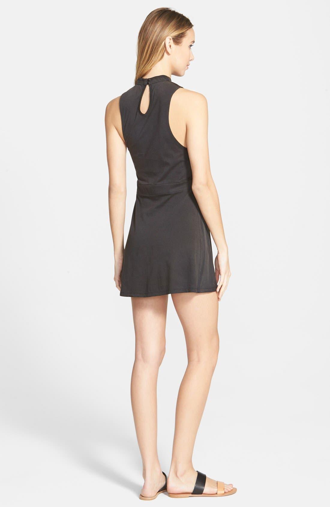 Alternate Image 2  - RVCA 'Early Brunch' Cotton Skater Dress