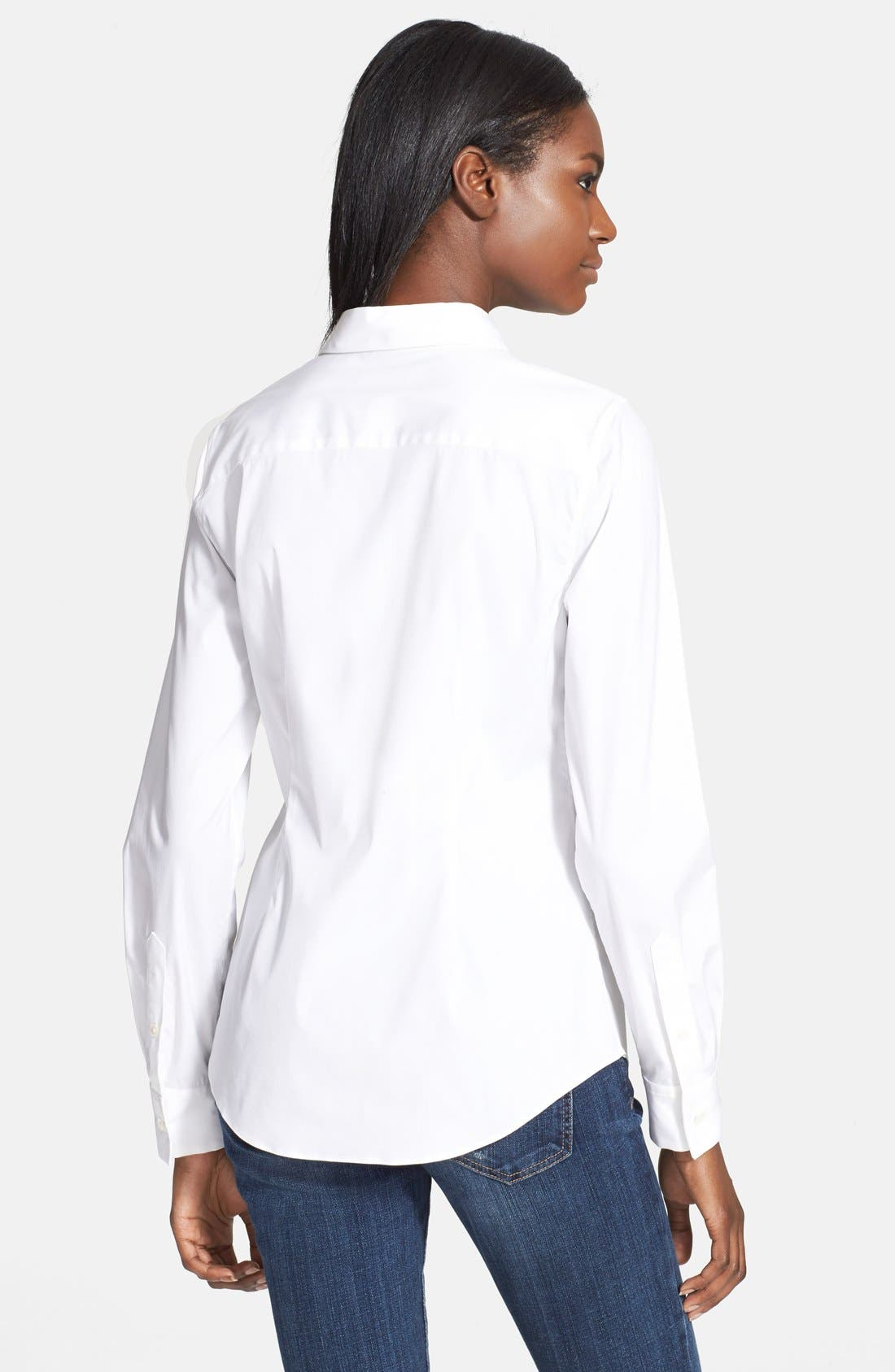 Alternate Image 2  - Theory 'Tenia' Cotton Blend Blouse