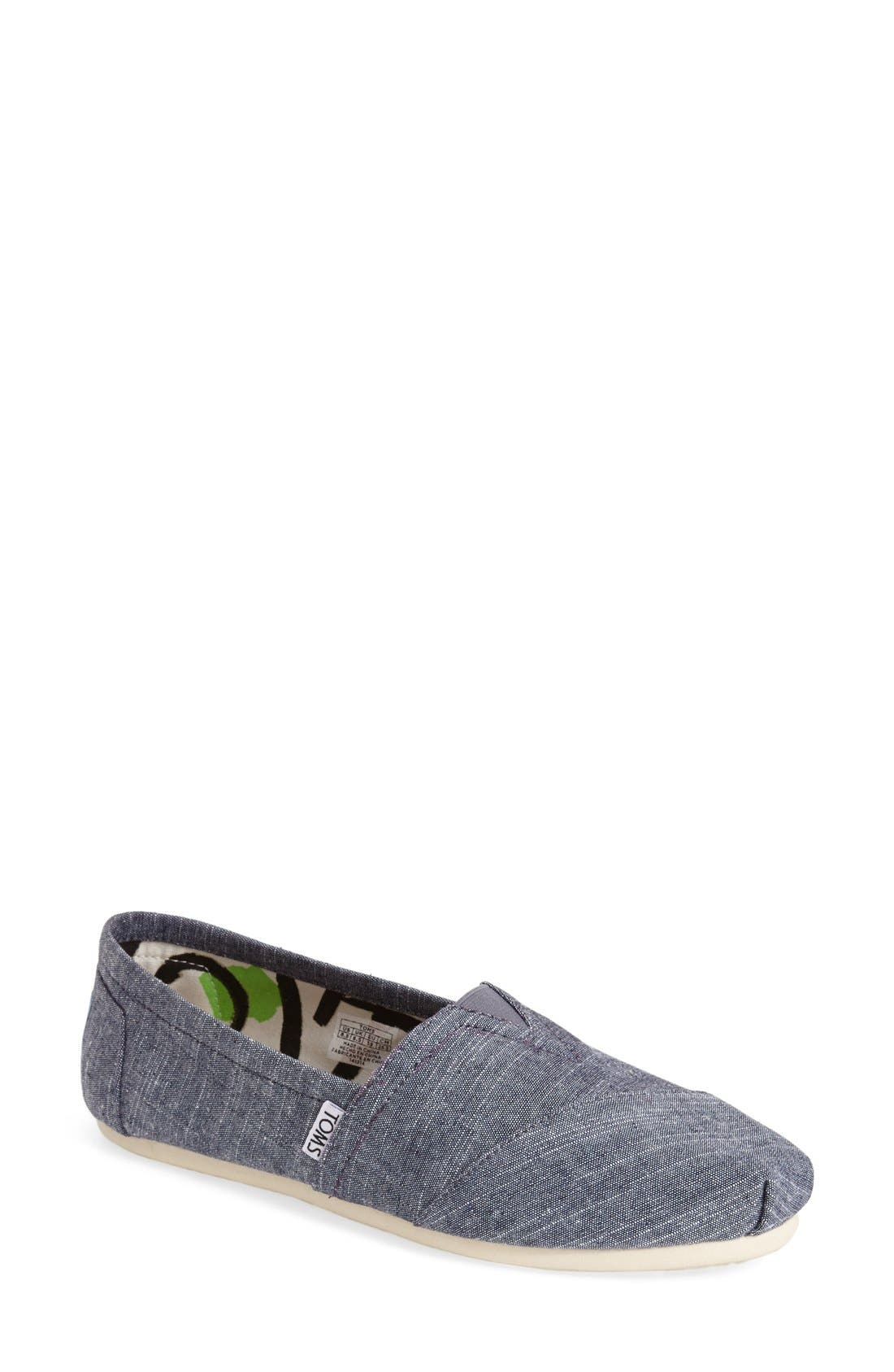 Alternate Image 1 Selected - TOMS 'Classic - Chambray' Slip-On (Women)