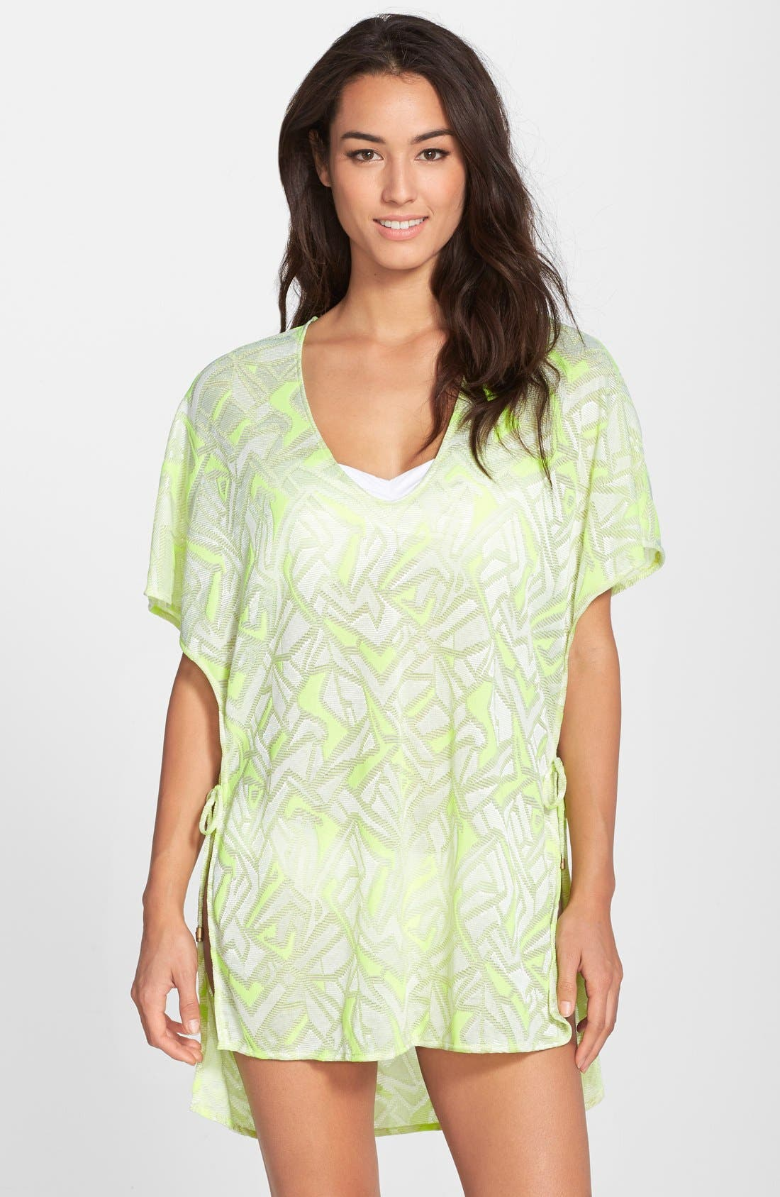 Alternate Image 1 Selected - Vitamin A® 'Pelicano' Geo Pattern Cover-Up Poncho
