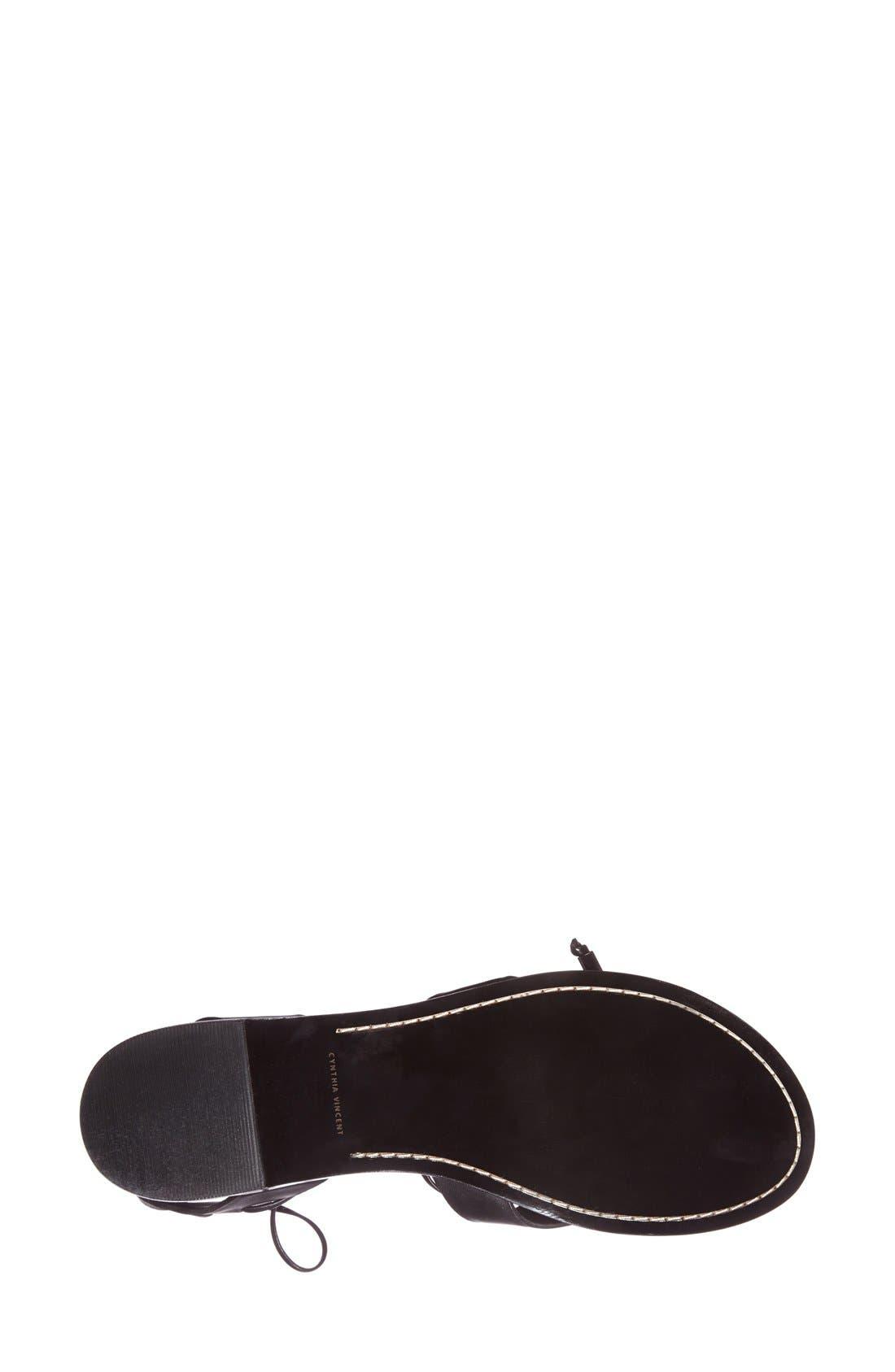 Alternate Image 4  - Cynthia Vincent 'Fantine' Leather Gladiator Sandal (Women)