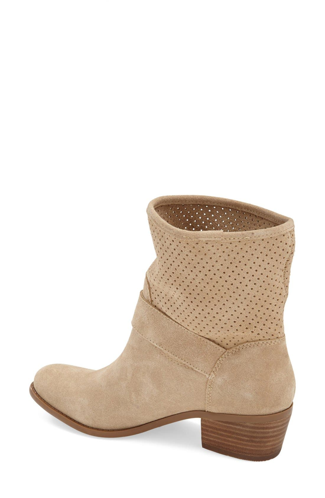 Alternate Image 2  - Sole Society 'Sola' Perforated Suede Western Bootie (Women)
