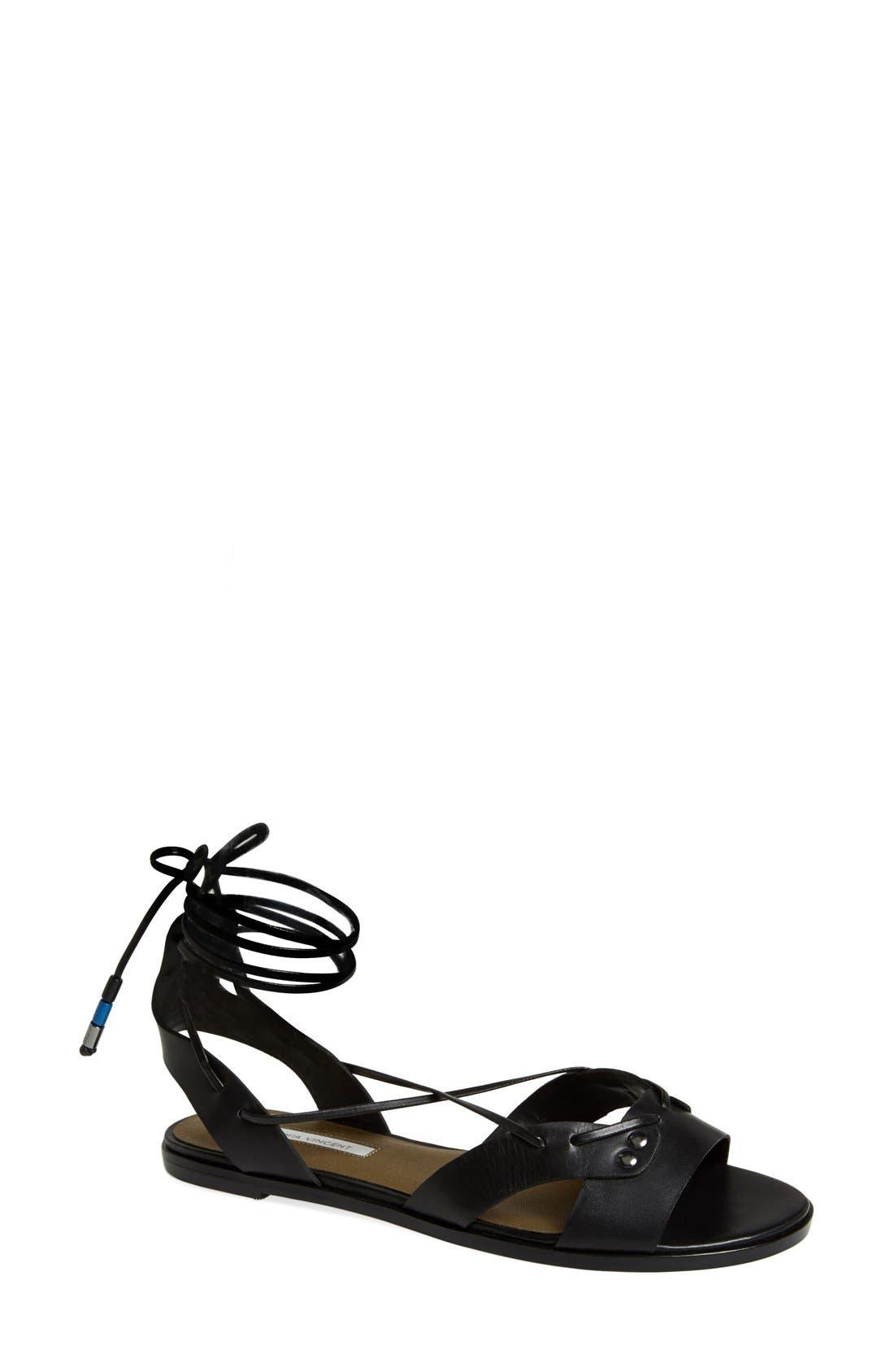Alternate Image 1 Selected - Cynthia Vincent 'Fantine' Leather Gladiator Sandal (Women)