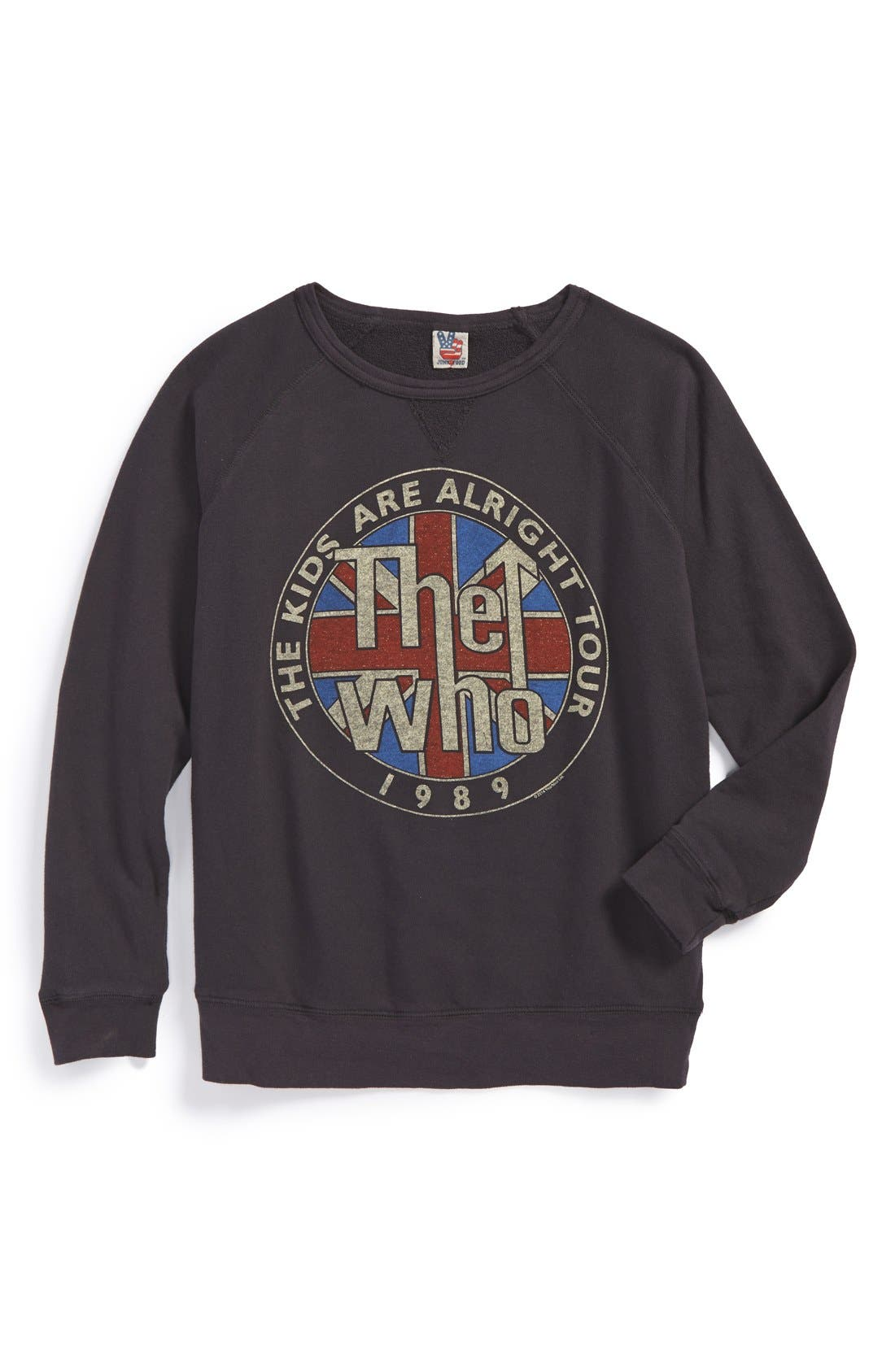 Main Image - Junk Food 'The Who' Graphic Lightweight Cotton Sweatshirt (Big Boys)