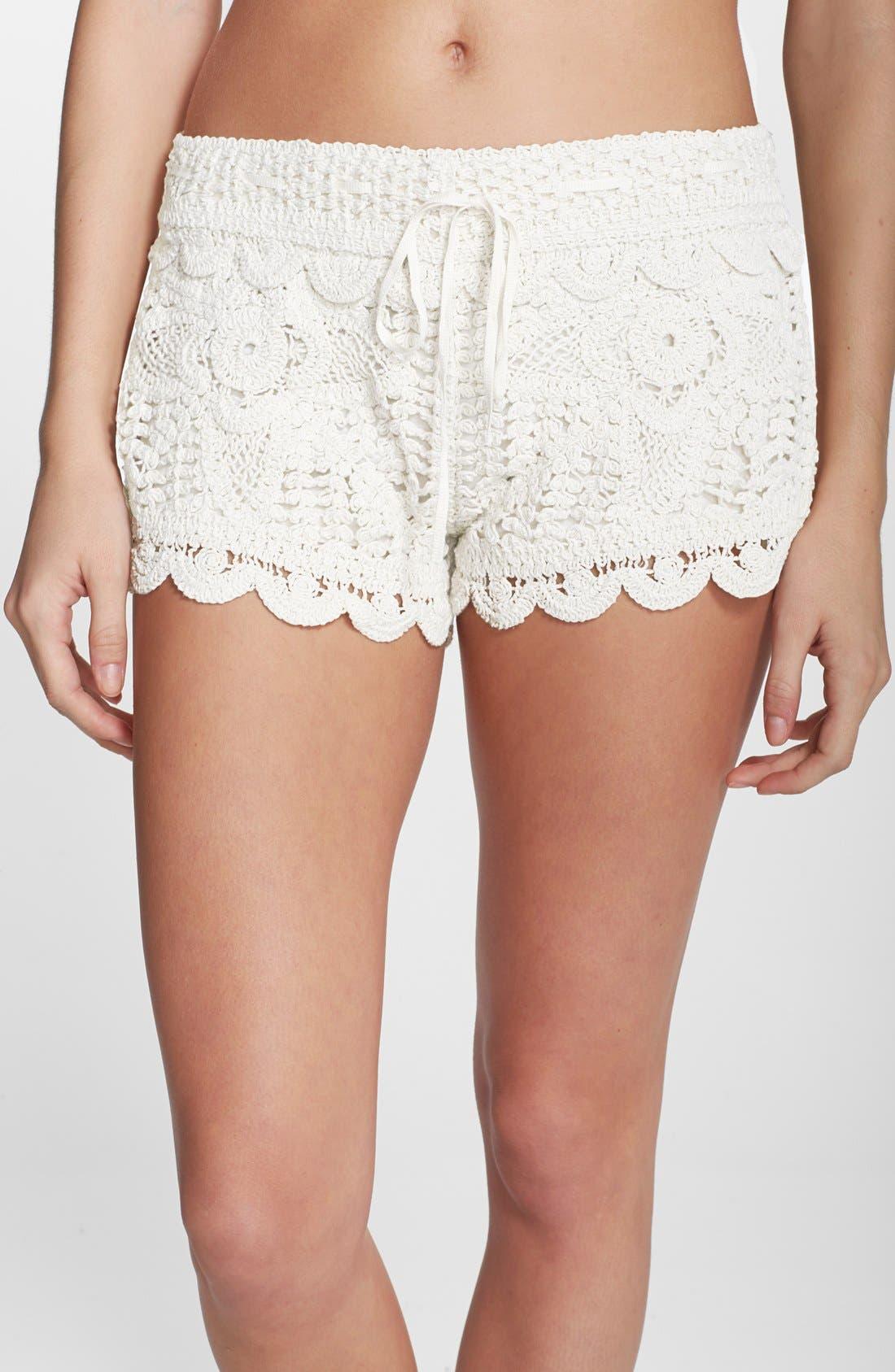 Main Image - Surf Gypsy Crochet Cover-Up Shorts