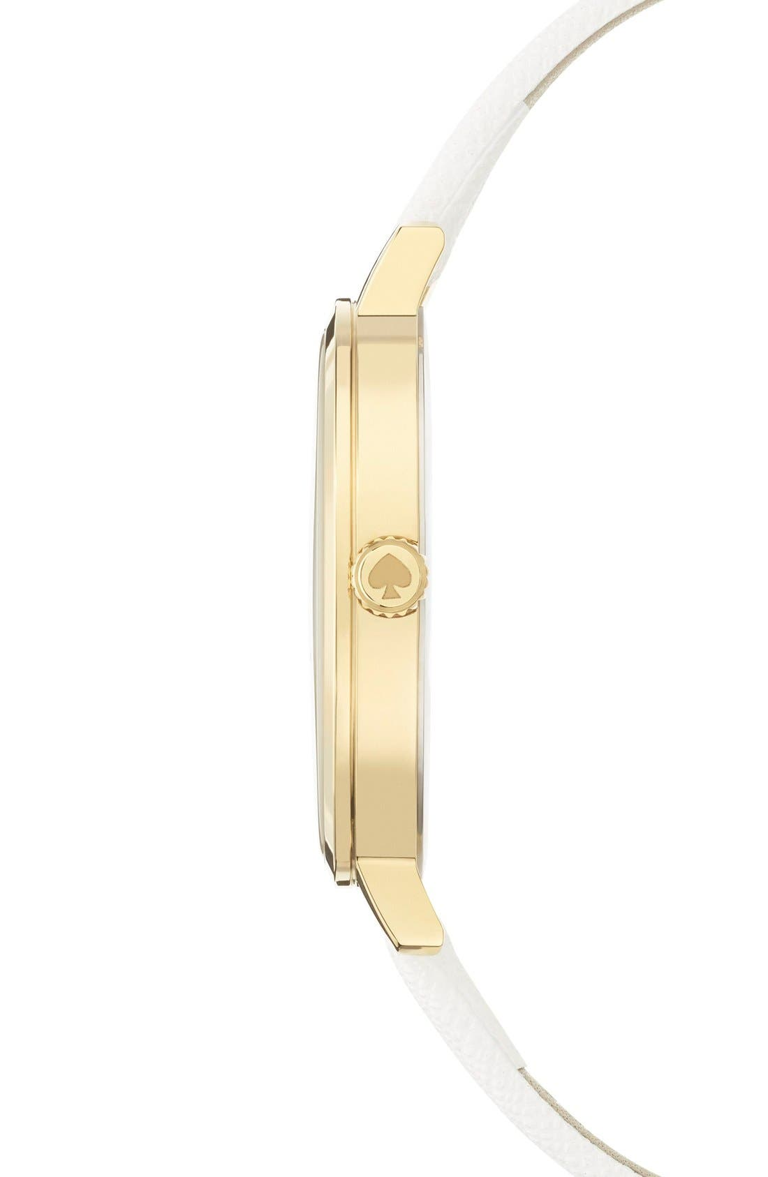 Alternate Image 3  - kate spade new york 'metro' butterfly dial leather strap watch, 34mm