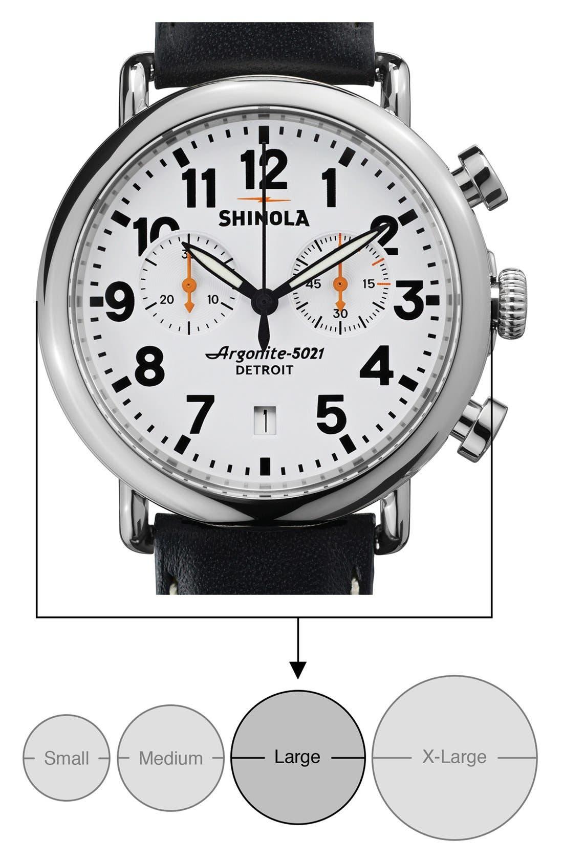 Alternate Image 5  - Shinola 'The Runwell Chrono' Leather Strap Watch, 41mm