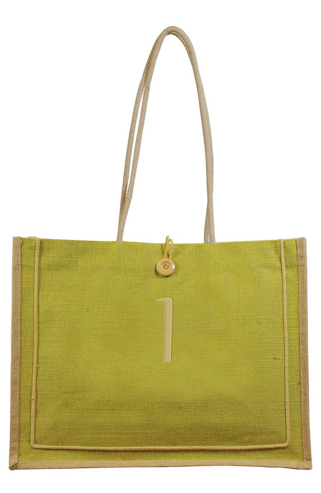 CATHY'S CONCEPTS 'Newport' Monogrammed Jute Tote