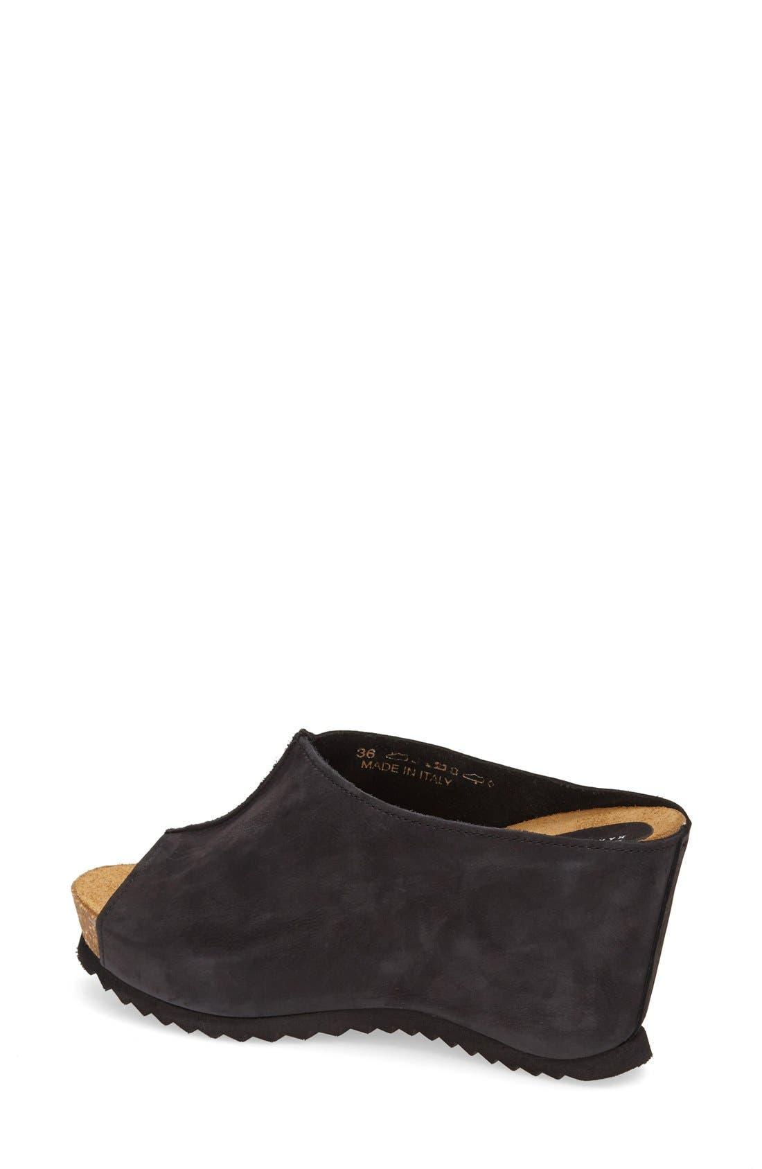 Alternate Image 2  - Anyi Lu 'Sara' Nubuck Leather Peep Toe Mule Wedge (Women)