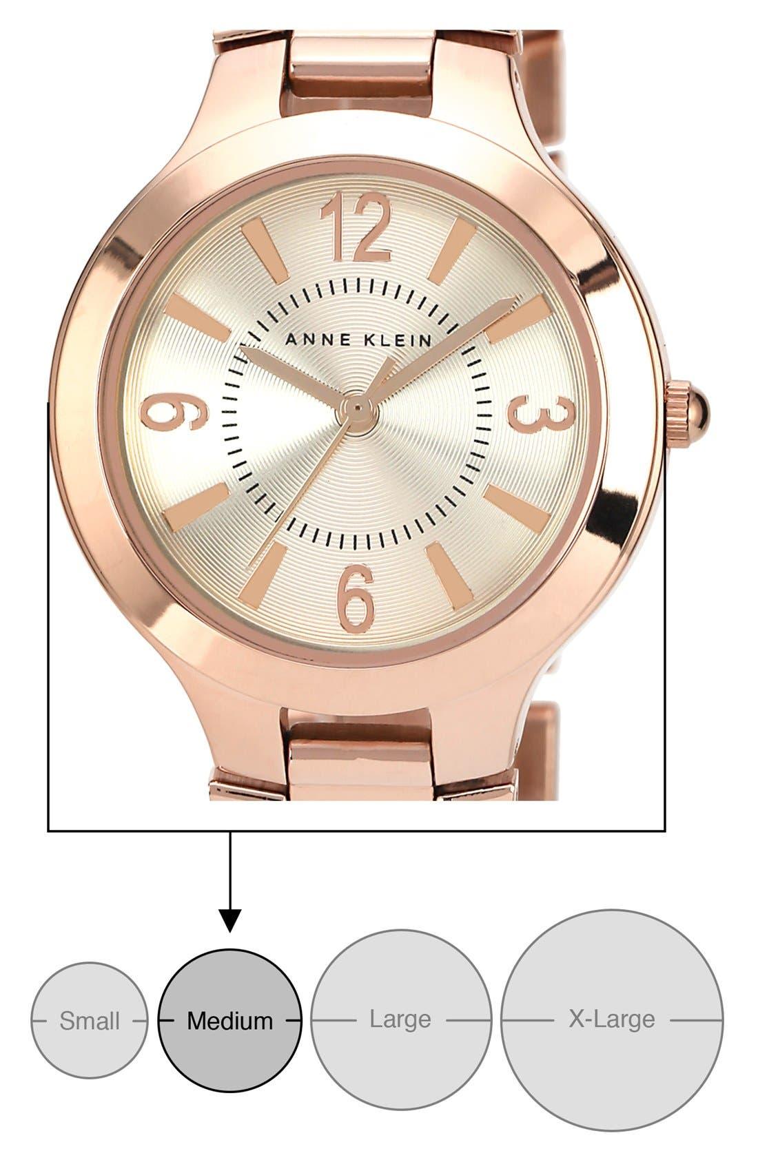 Alternate Image 2  - Anne Klein Round Bracelet Watch, 32mm