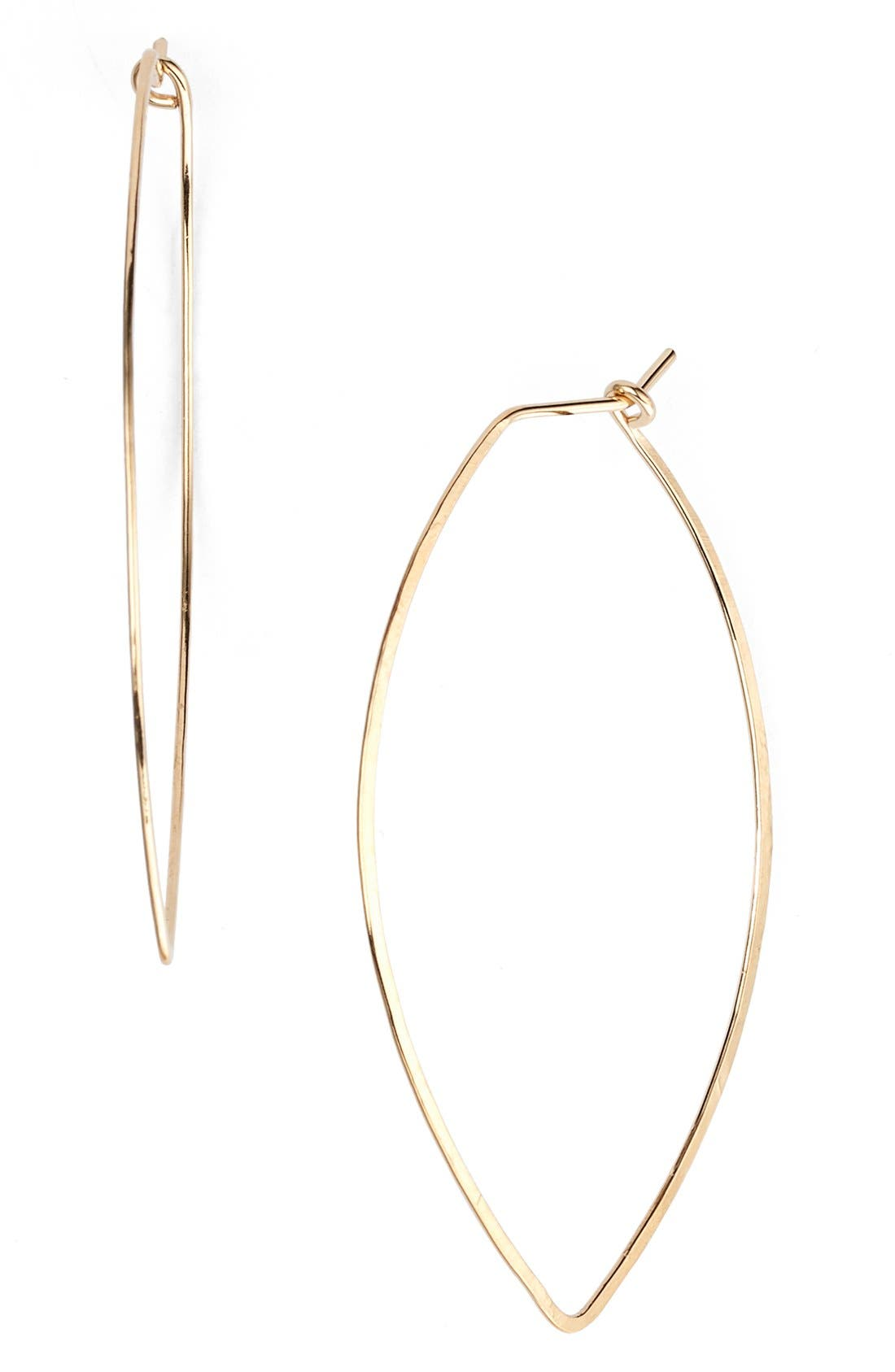 NASHELLE Ija Marquise Hoop Earrings