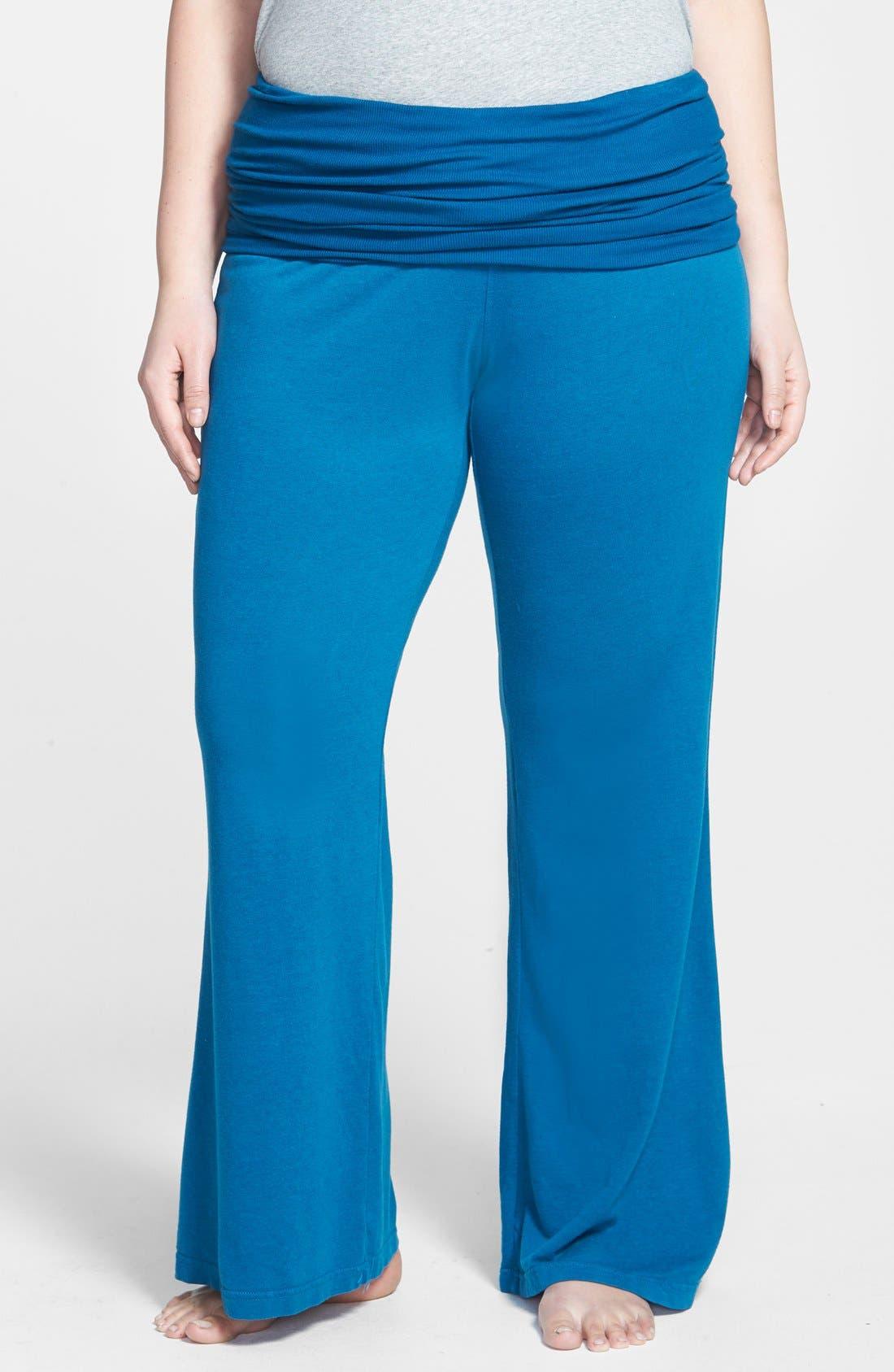 Main Image - Hard Tail Wide Leg Pants (Plus Size)
