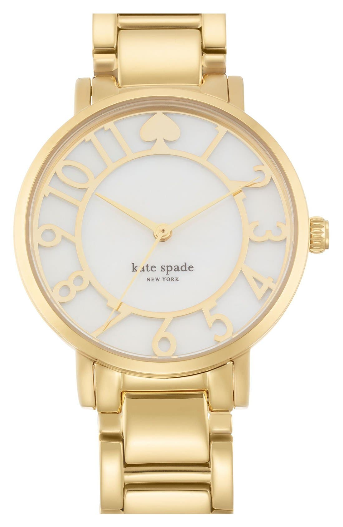 Main Image - kate spade new york 'gramercy' mother-of-pearl bracelet watch, 34mm