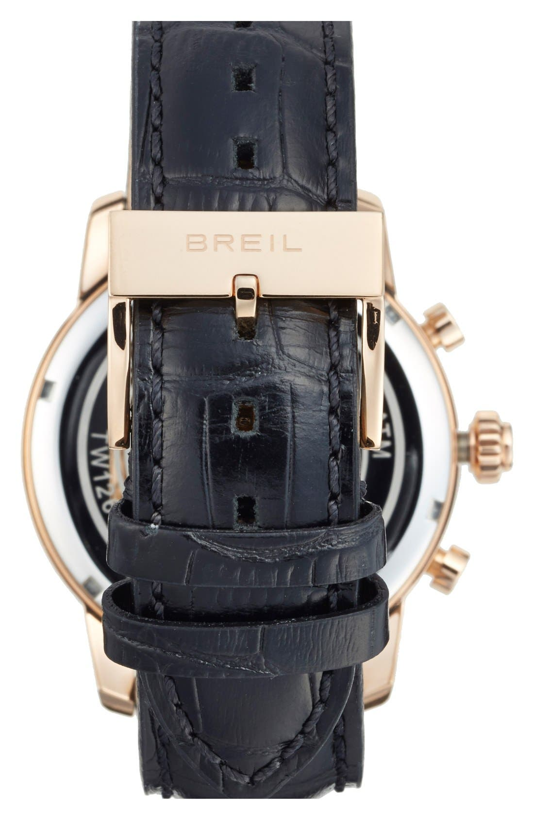 Alternate Image 2  - Breil 'Miglia' Chronograph Leather Strap Watch, 44mm