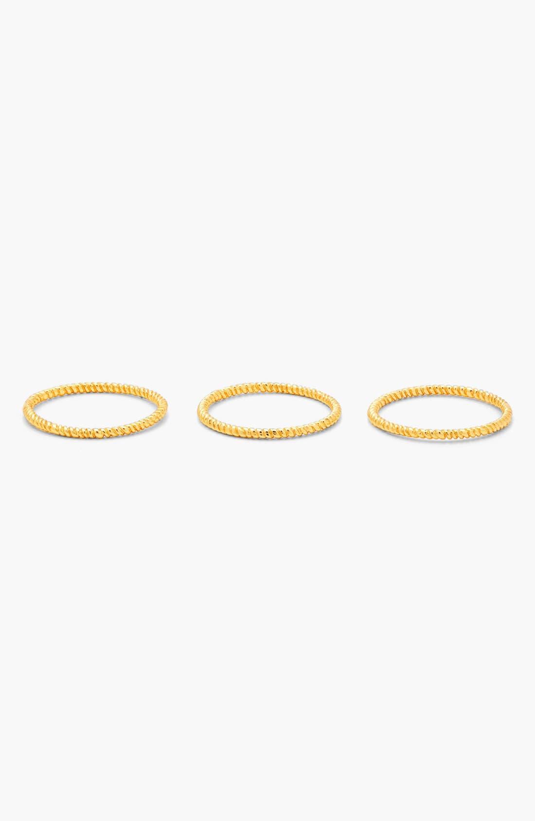 Alternate Image 3  - gorjana Textured Rings (Set of 3)
