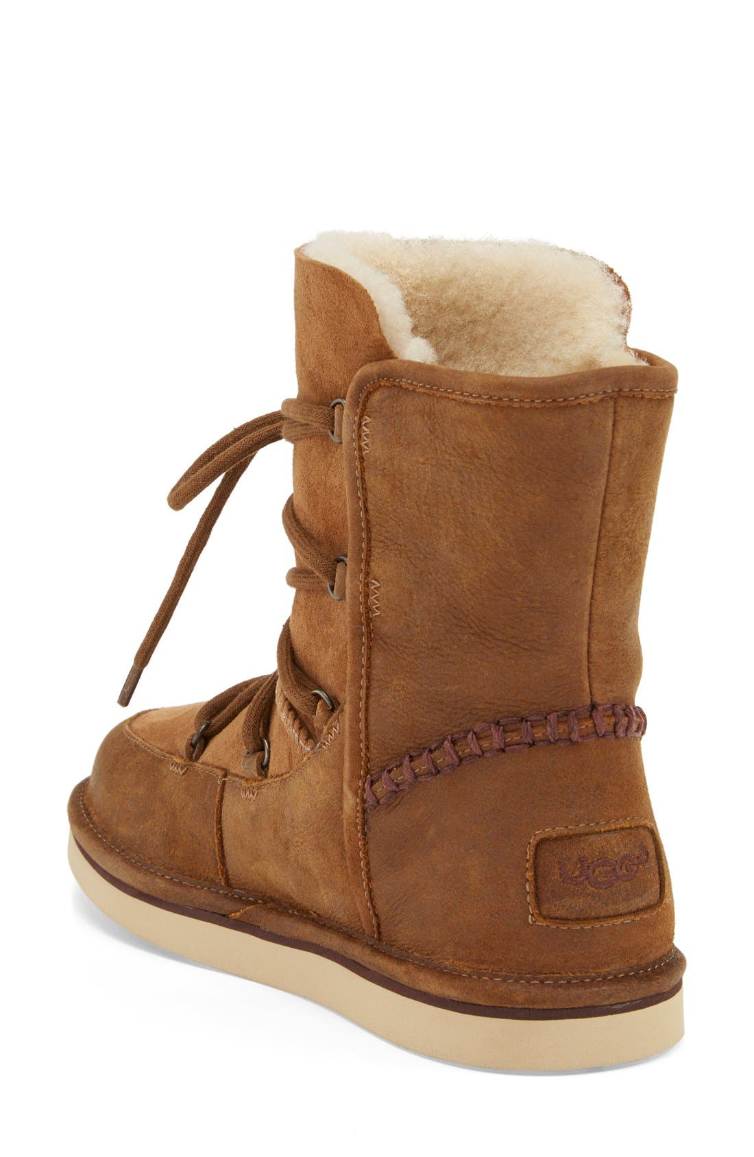 Alternate Image 2  - UGG® Lodge Water Resistant Lace-Up Boot (Women)