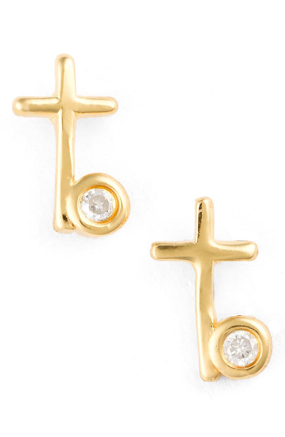 Alternate Image 1 Selected - Shy by SE Cross Stud Earrings