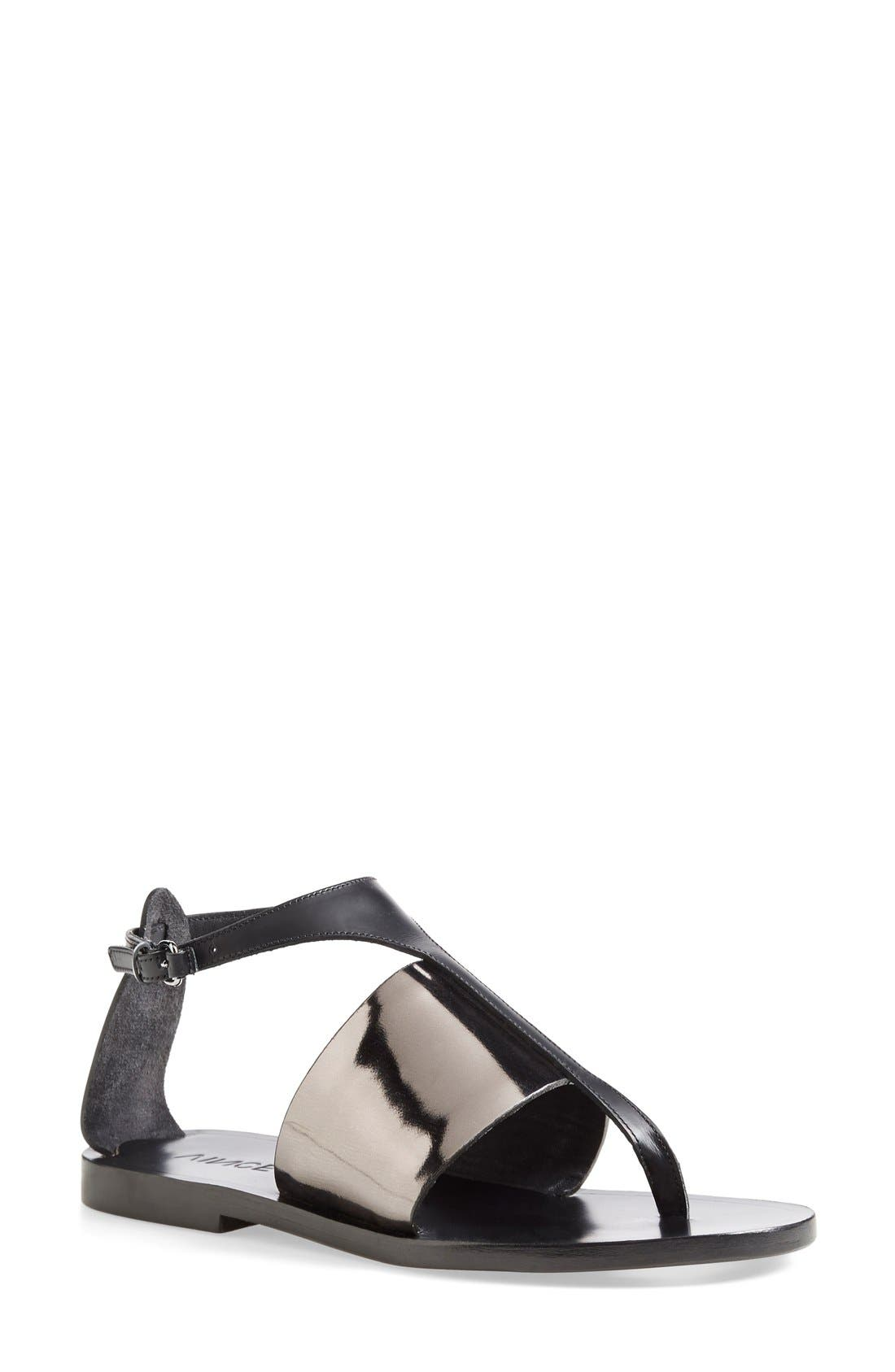 Alternate Image 1 Selected - Vince 'Thea' Ankle Strap Thong Sandal (Women)