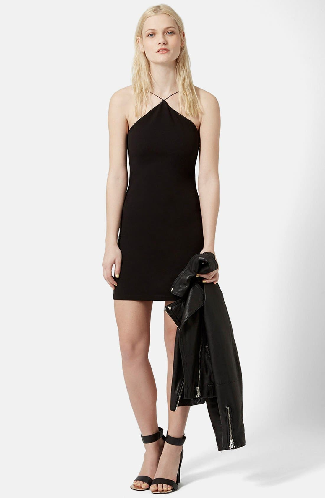 Alternate Image 5  - Topshop Strappy Body-Con Dress