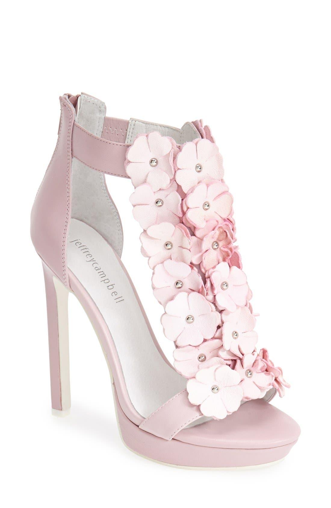 Alternate Image 1 Selected - Jeffrey Campbell 'Cilla-Rose' Platform Sandal (Women)