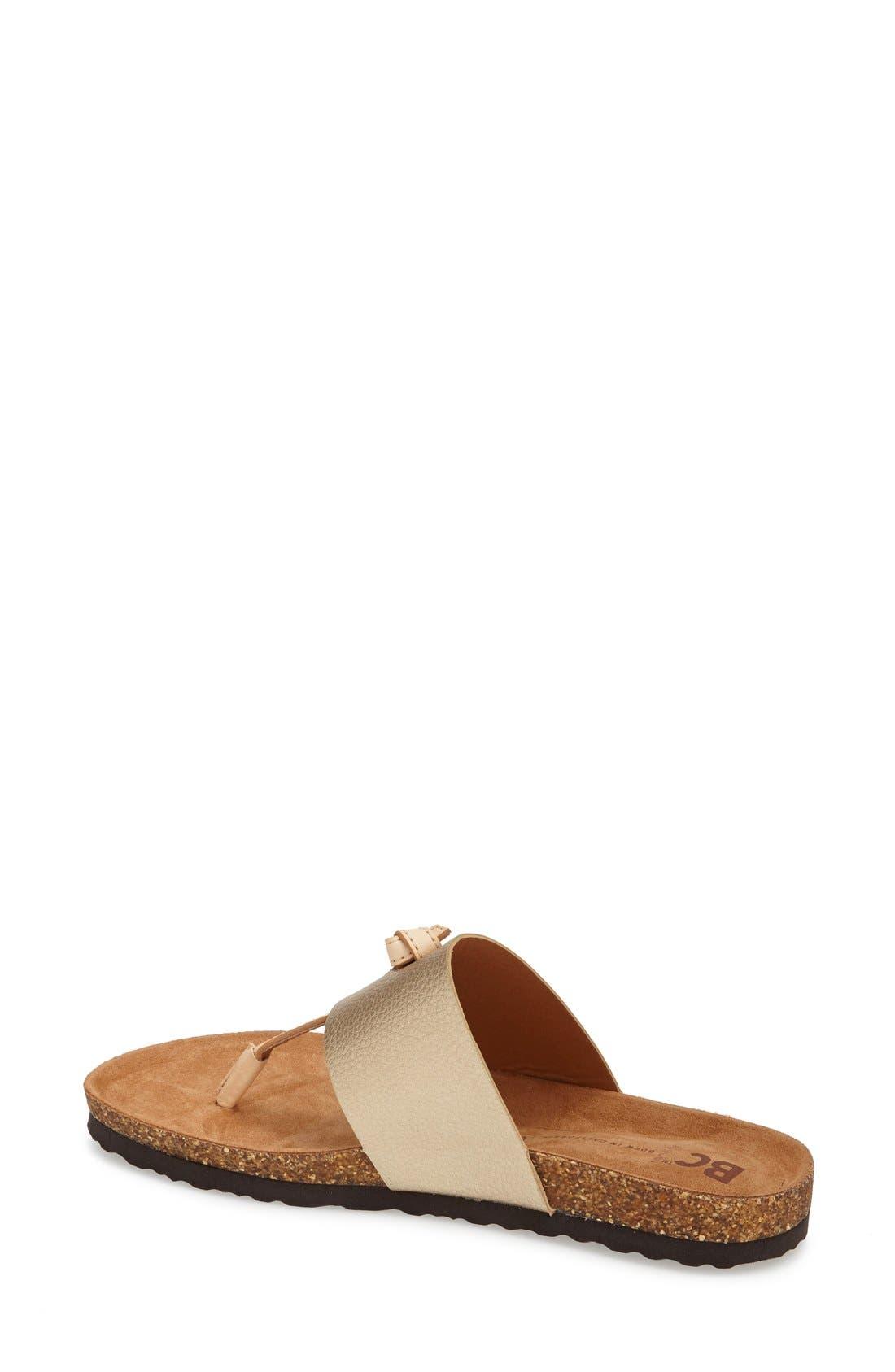 Alternate Image 2  - BC Footwear 'Lynx' Faux Leather Thong Sandal (Women)