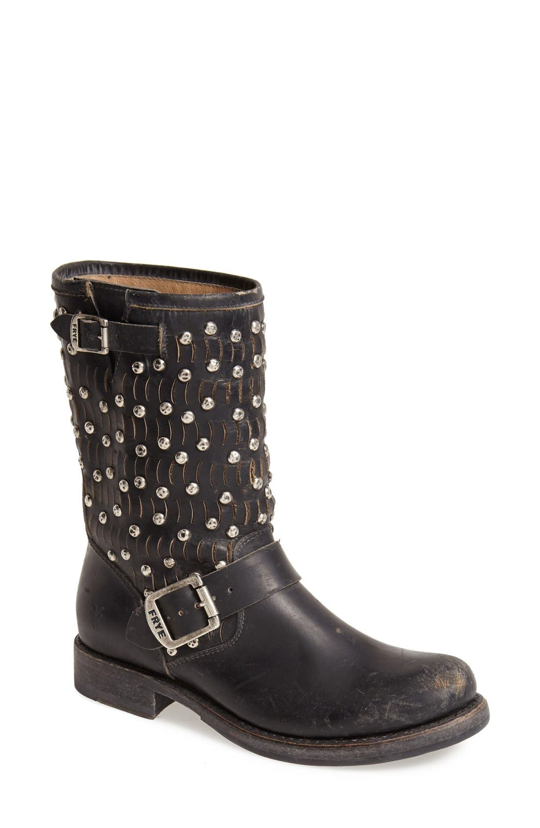 Alternate Image 1 Selected - Frye 'Jenna Cut Stud' Short Moto Boot (Women)