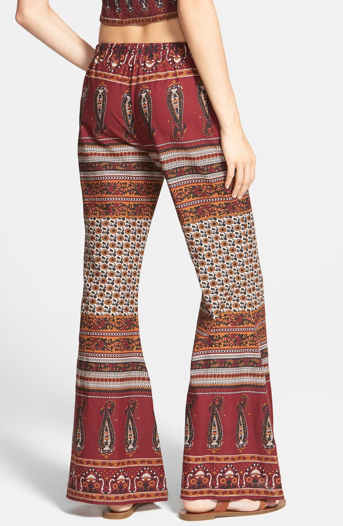 Alternate Image 2  - Band of Gypsies Gauzy Wide Leg Pants