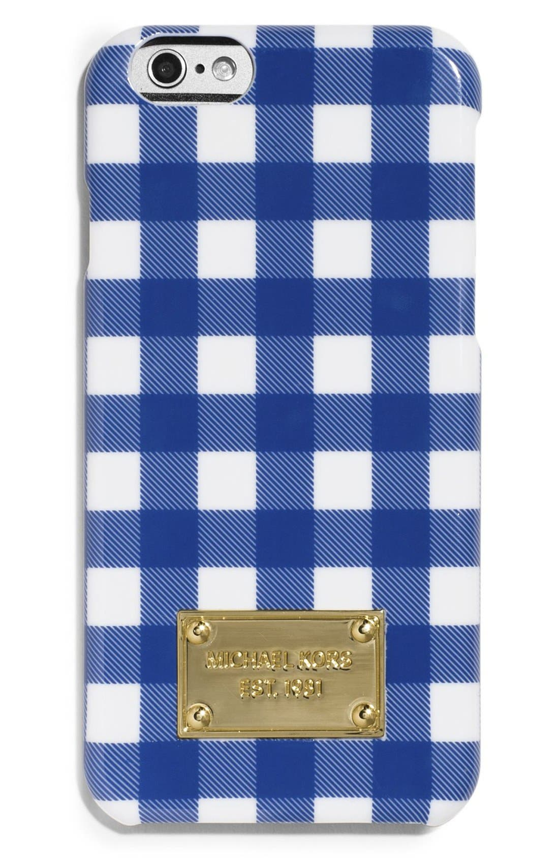 Alternate Image 1 Selected - MICHAEL Michael Kors Gingham Print iPhone 6 Case
