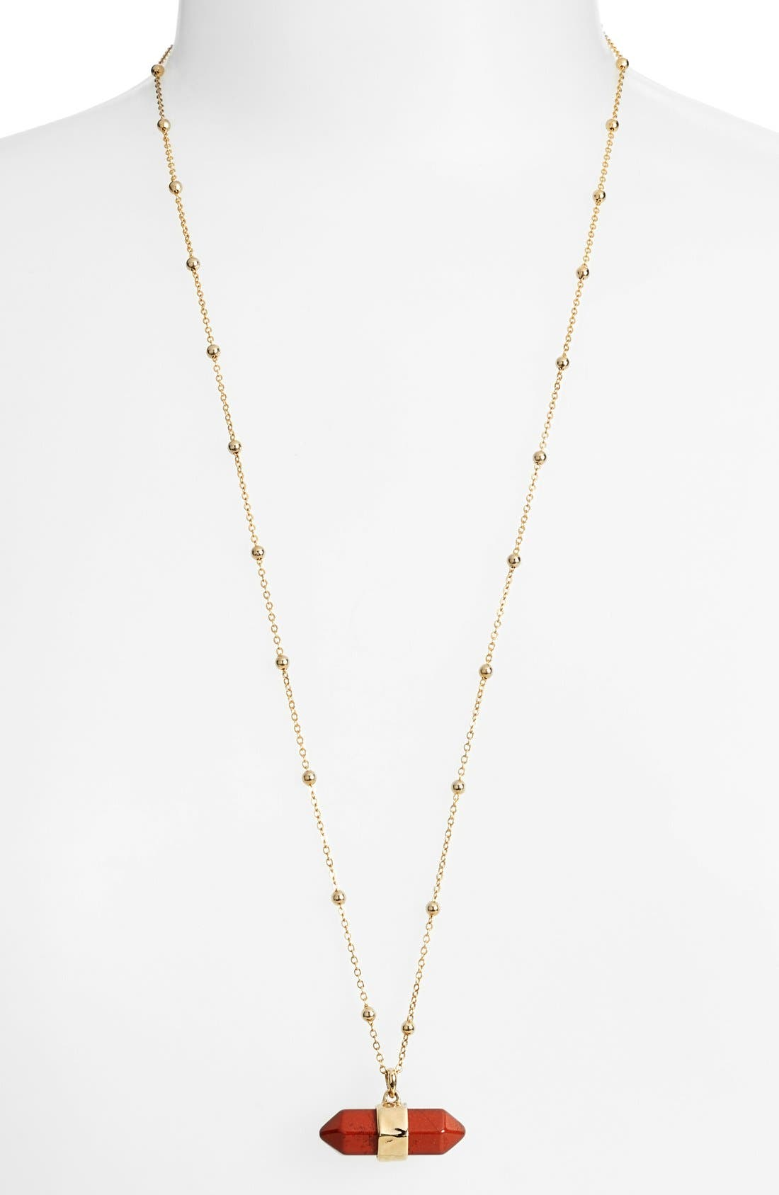 Alternate Image 2  - Nordstrom Semiprecious Stone Pendant Necklace