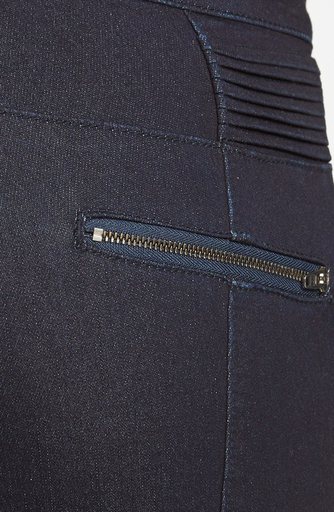 Alternate Image 3  - Standards & Practices 'Sachi' Moto Skinny Jeans (Blue) (Online Only)