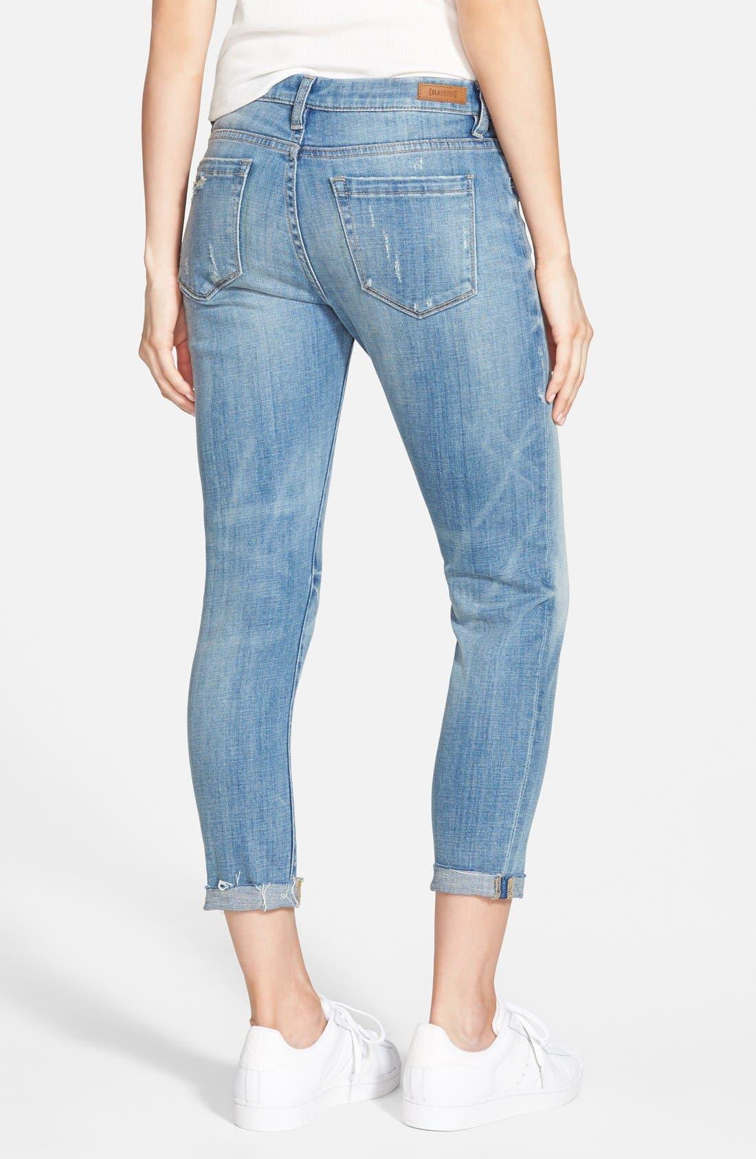 Alternate Image 2  - BLANKNYC 'Kale Yeah' Distressed Skinny Jeans (Medium)