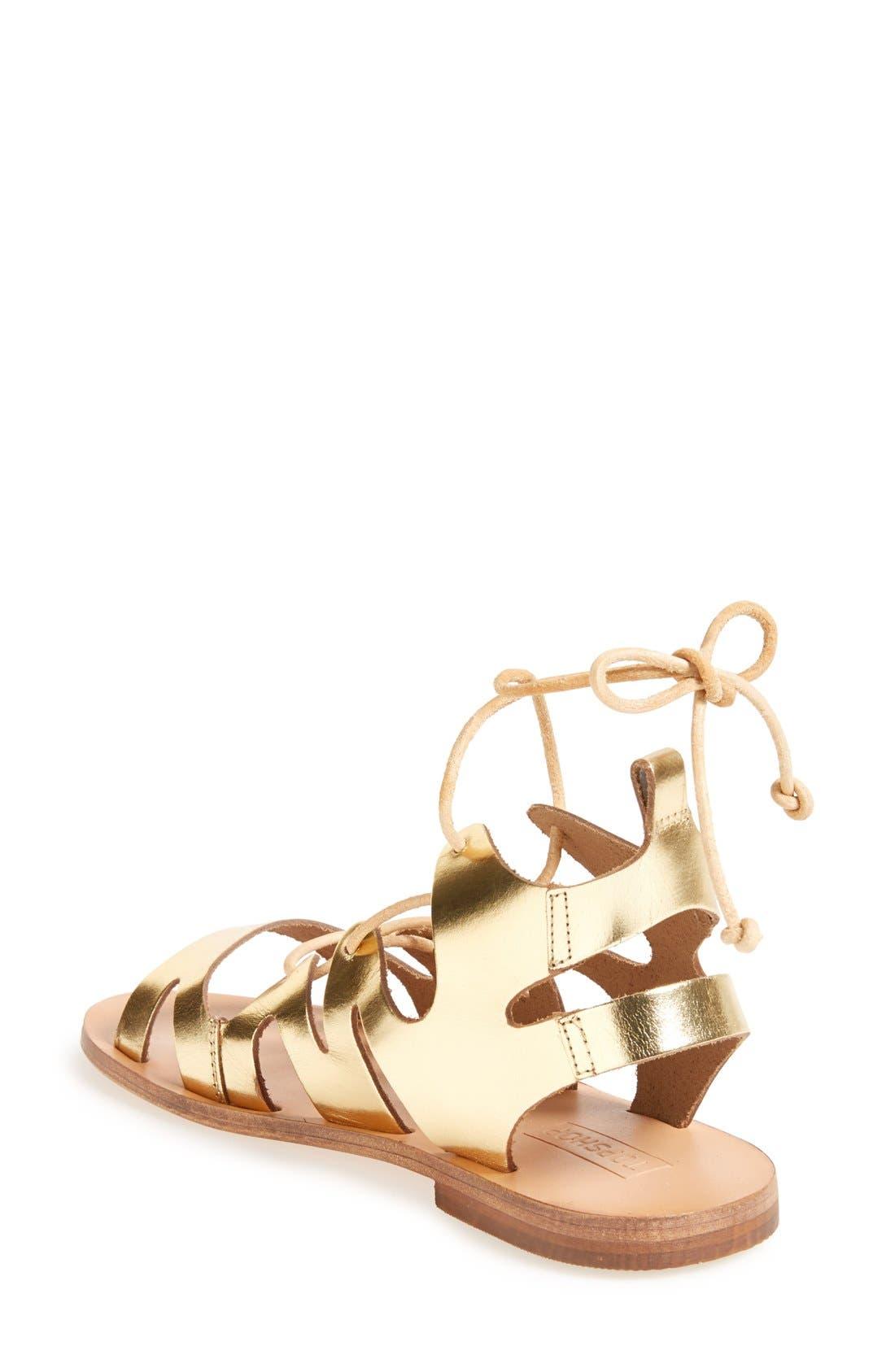 Alternate Image 2  - Topshop 'Fig' Cutout Lace-Up Gladiator Sandal (Women)