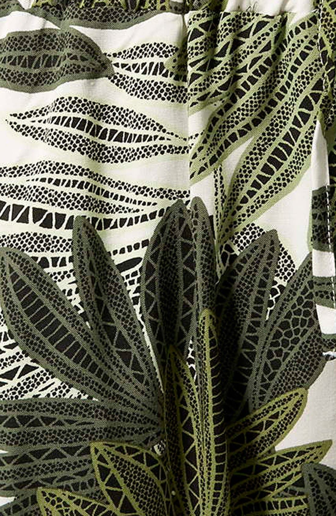 Alternate Image 4  - Topshop Palm Leaf Print Jumpsuit