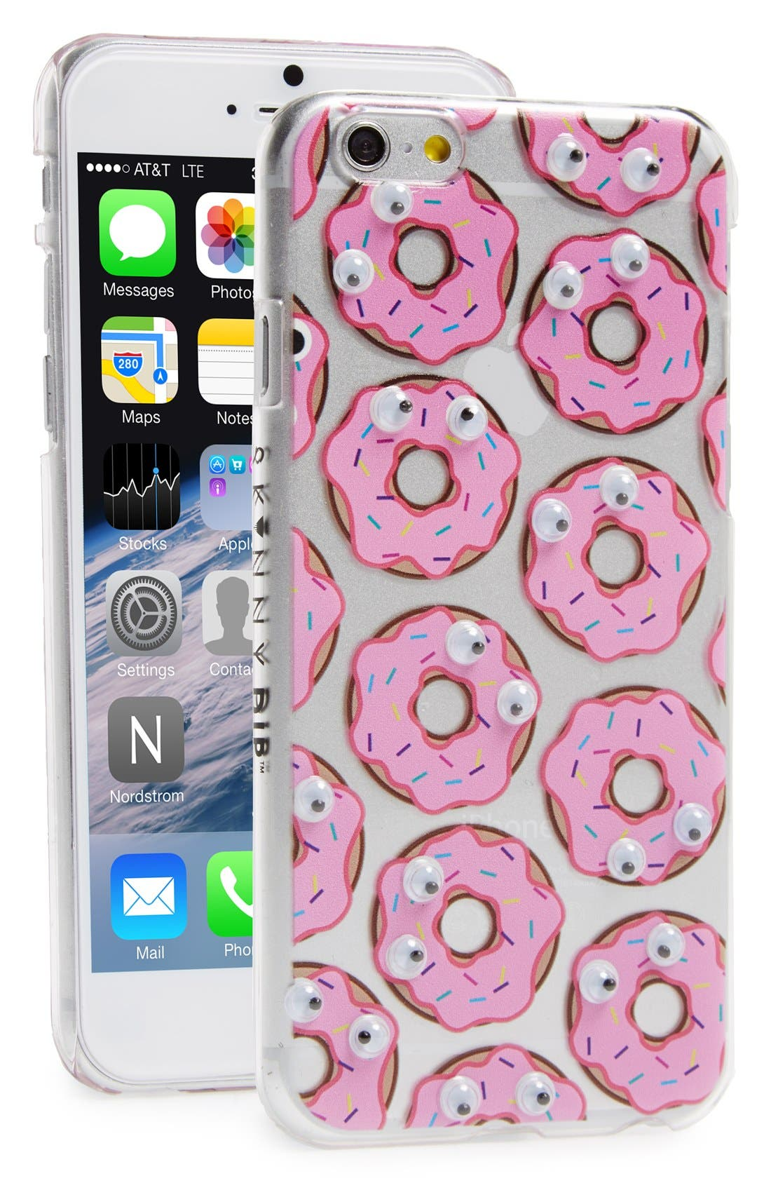 Alternate Image 1 Selected - Skinnydip 'Donut' Googly Eyes iPhone 6 Case