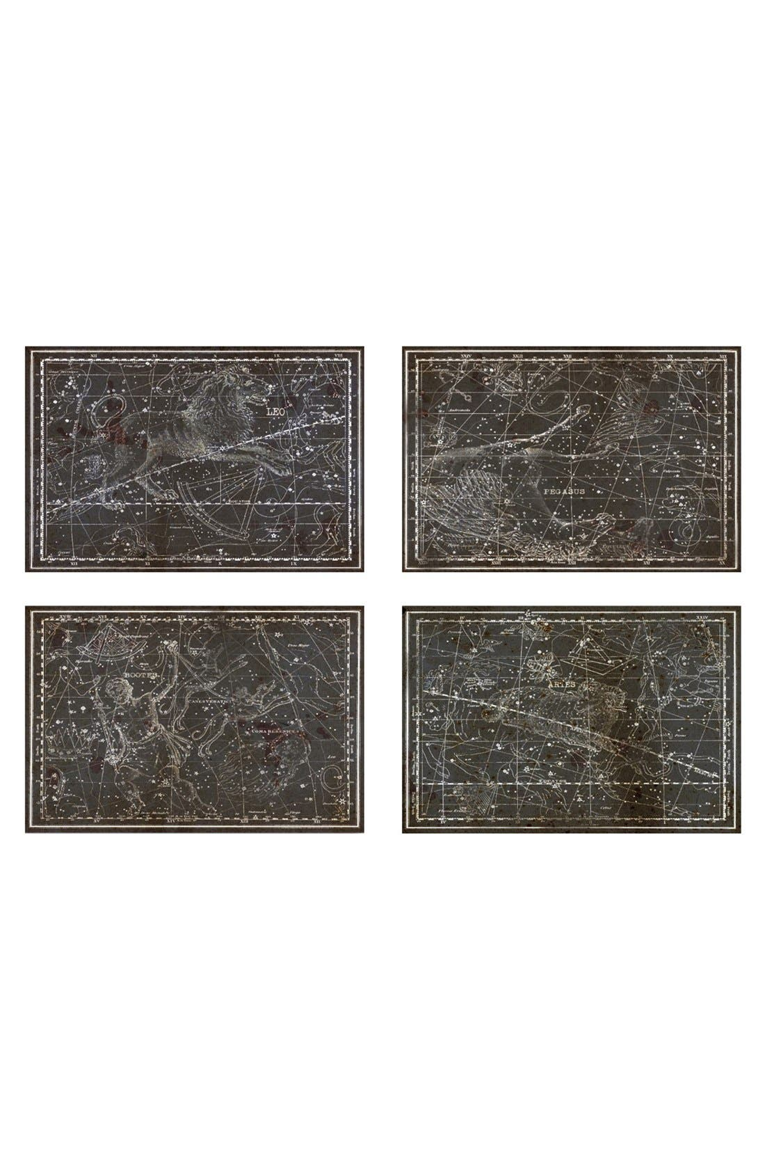 Oliver Gal 'Celestial Map XVI Century' Canvas Prints (Set of 4)
