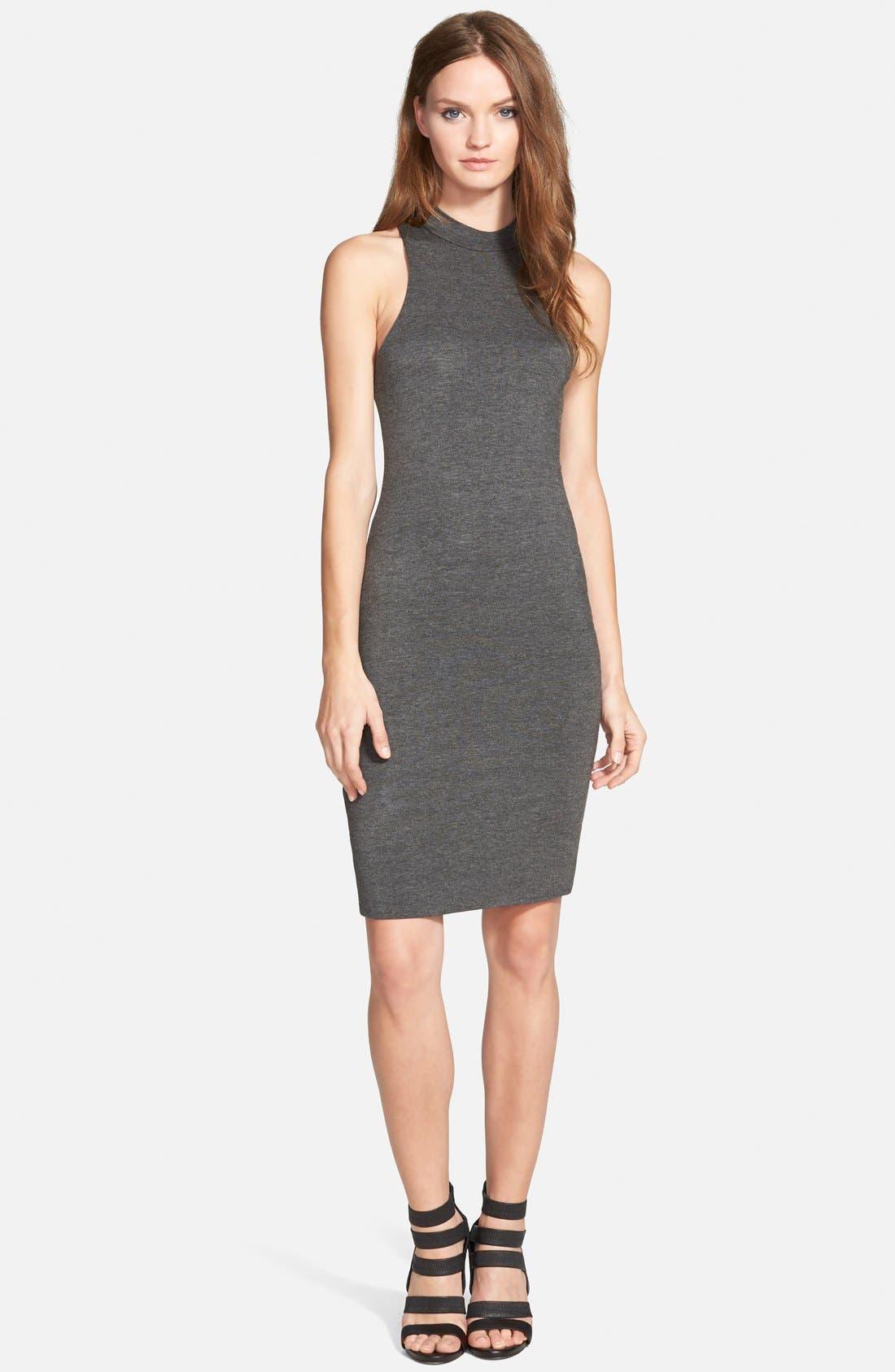 Alternate Image 1 Selected - Leith Mock Neck Midi Dress