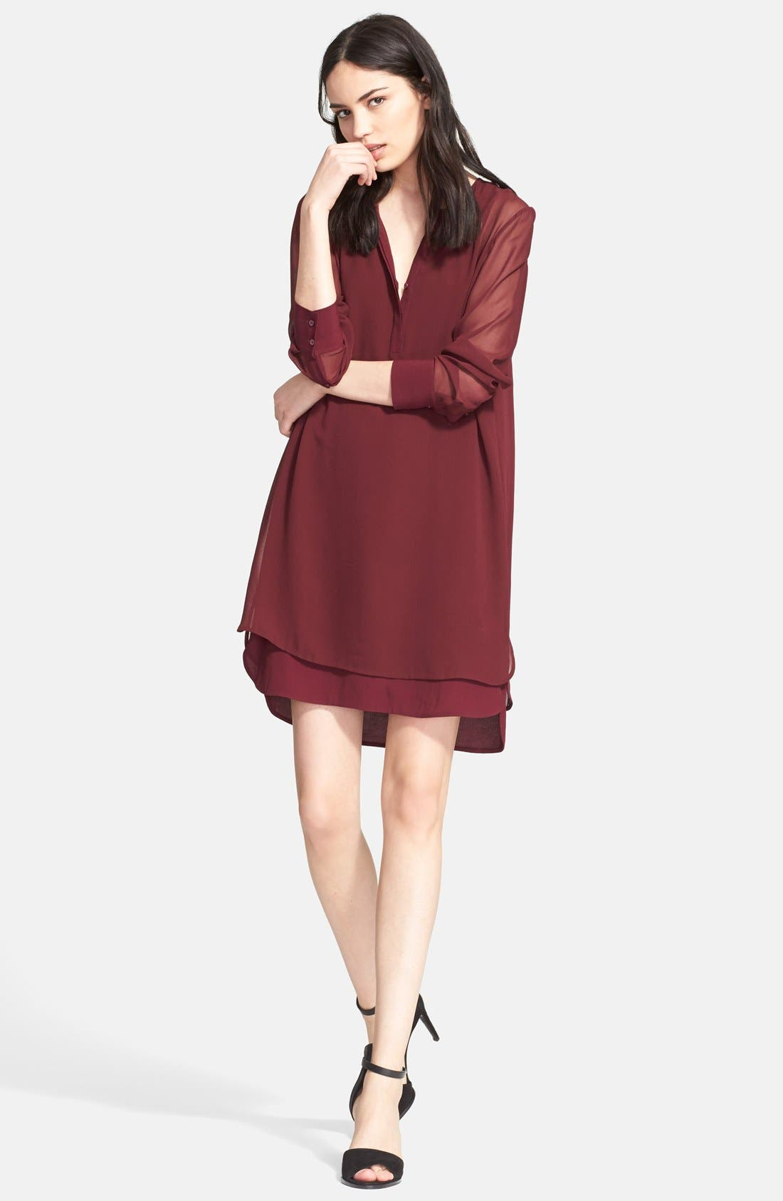 Alternate Image 5  - Vince Double Layer Shirtdress