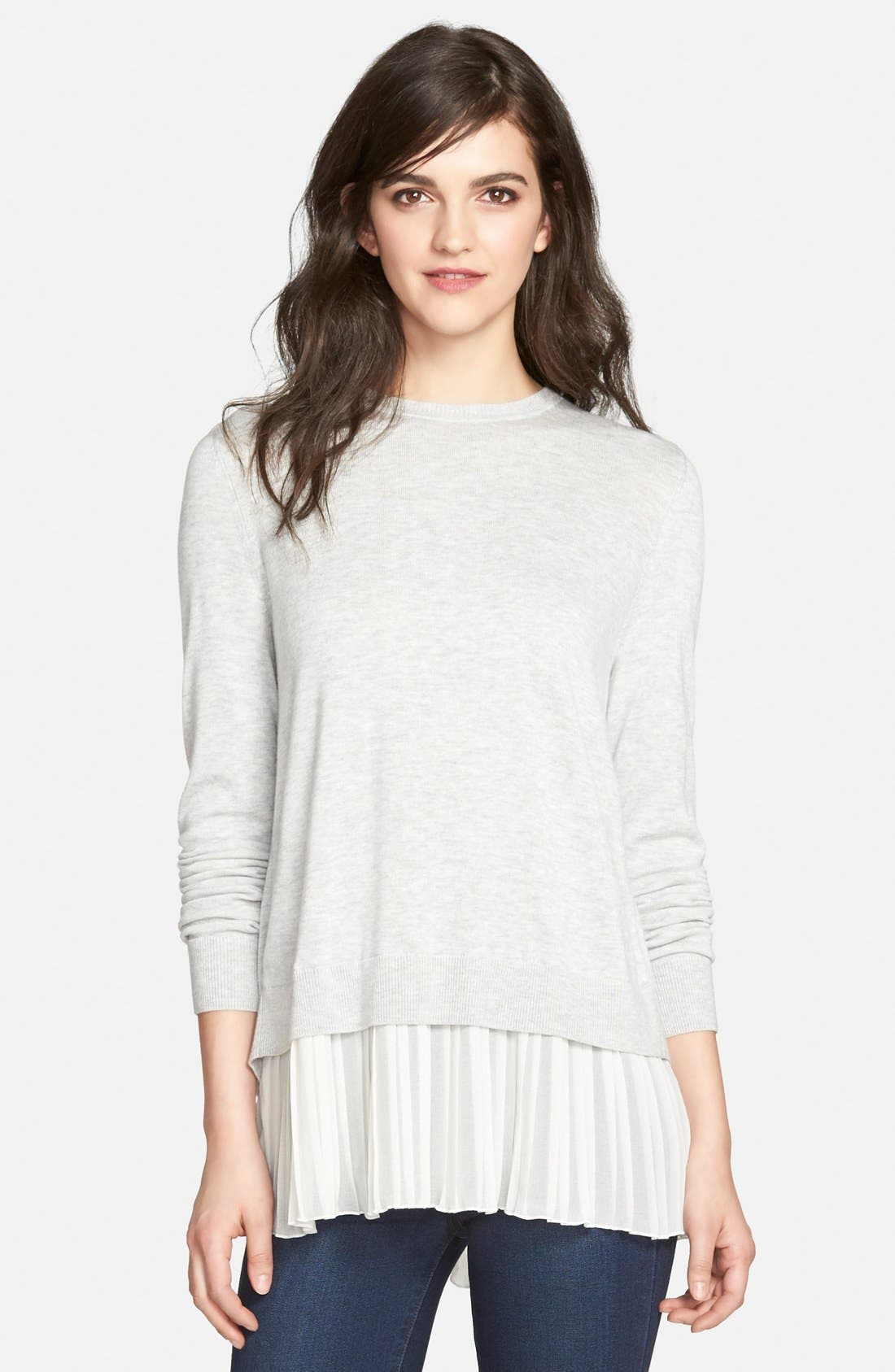Alternate Image 1 Selected - Chelsea28 Pleated Hem Sweater