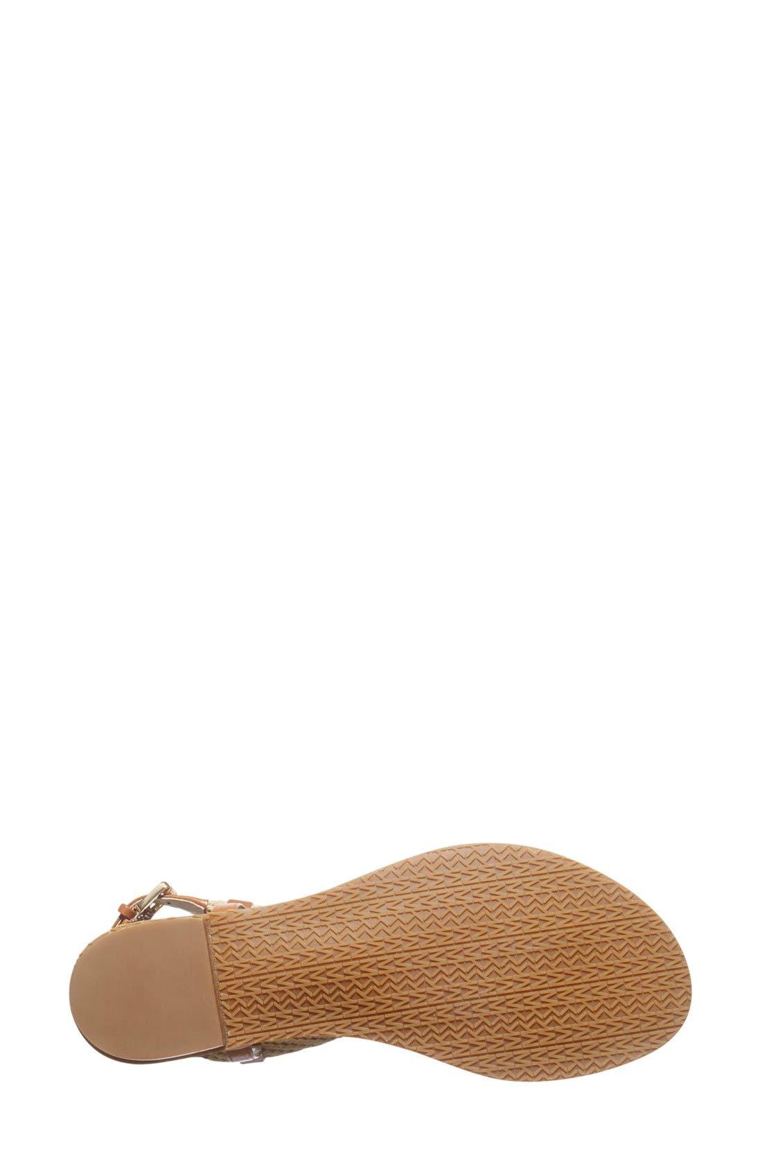 Alternate Image 4  - MICHAEL Michael Kors 'Holly' Leather Thong Sandal (Women)