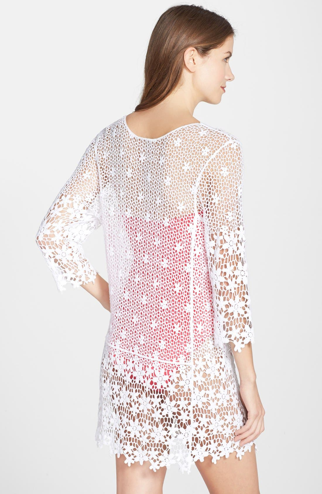 Alternate Image 2  - J Valdi Crochet Cover-Up Tunic