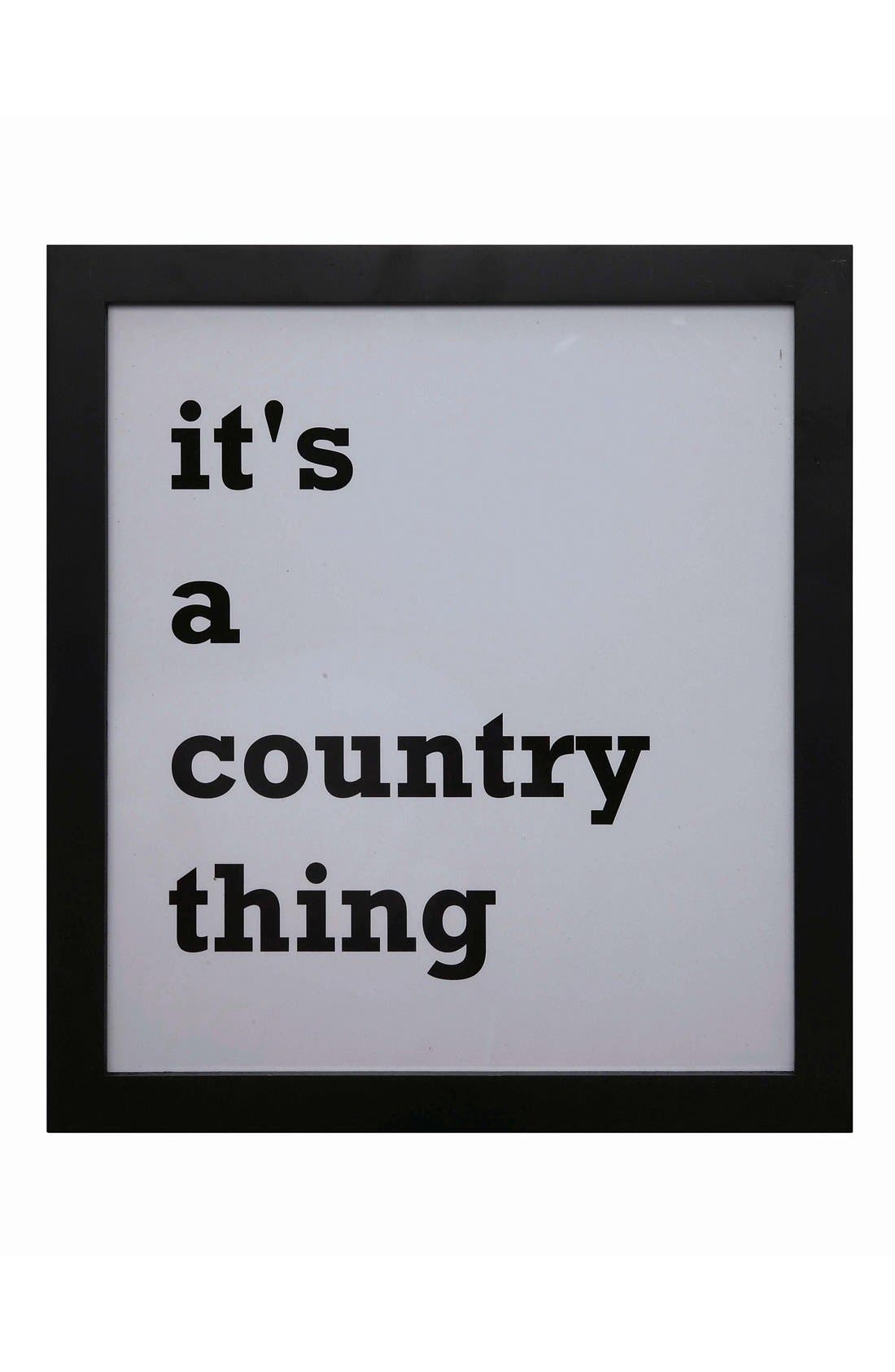 Alternate Image 1 Selected - Creative Co-Op 'It's a Country Thing' Wall Art
