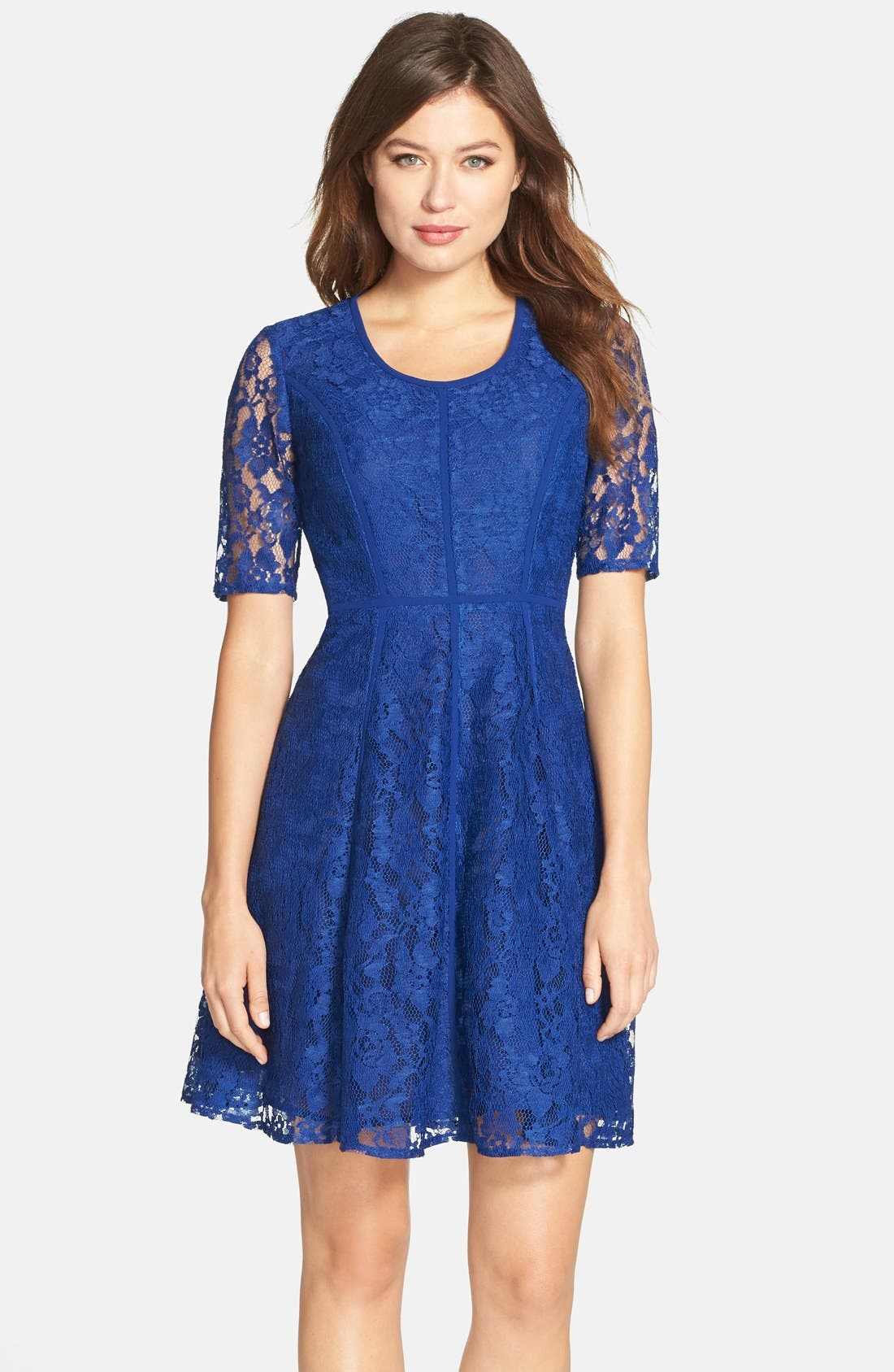 Alternate Image 1 Selected - Gabby Skye Lace Fit & Flare Dress
